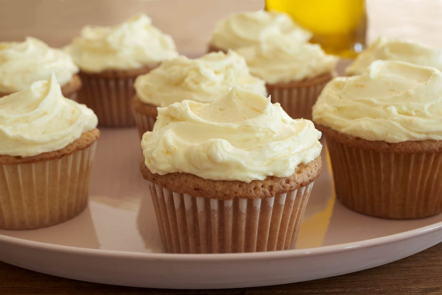 Recipe: One-Bowl Orange Olive Oil Cupcakes with Honey Buttercream