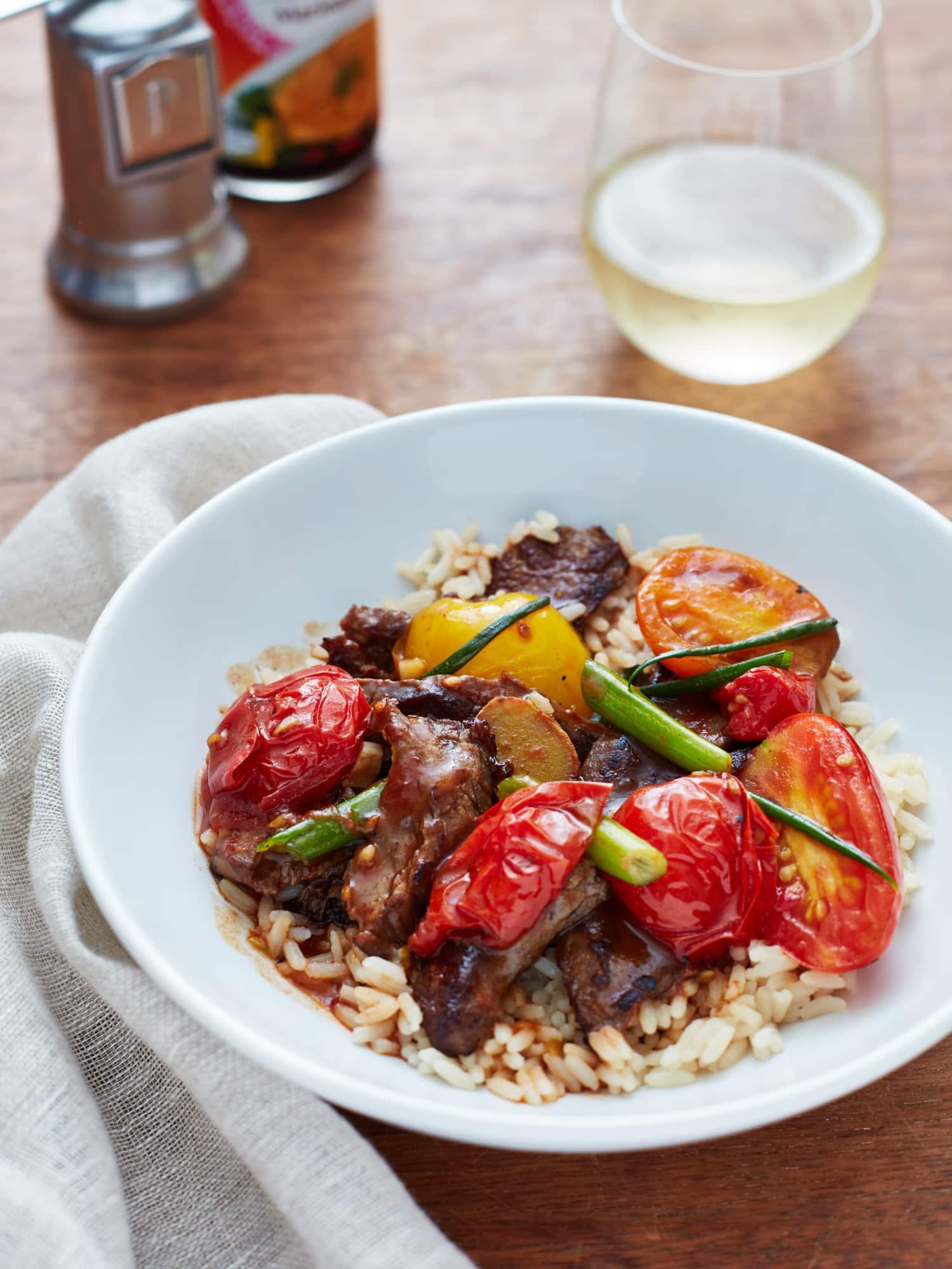 recipe beef and tomato stirfry  kitchn