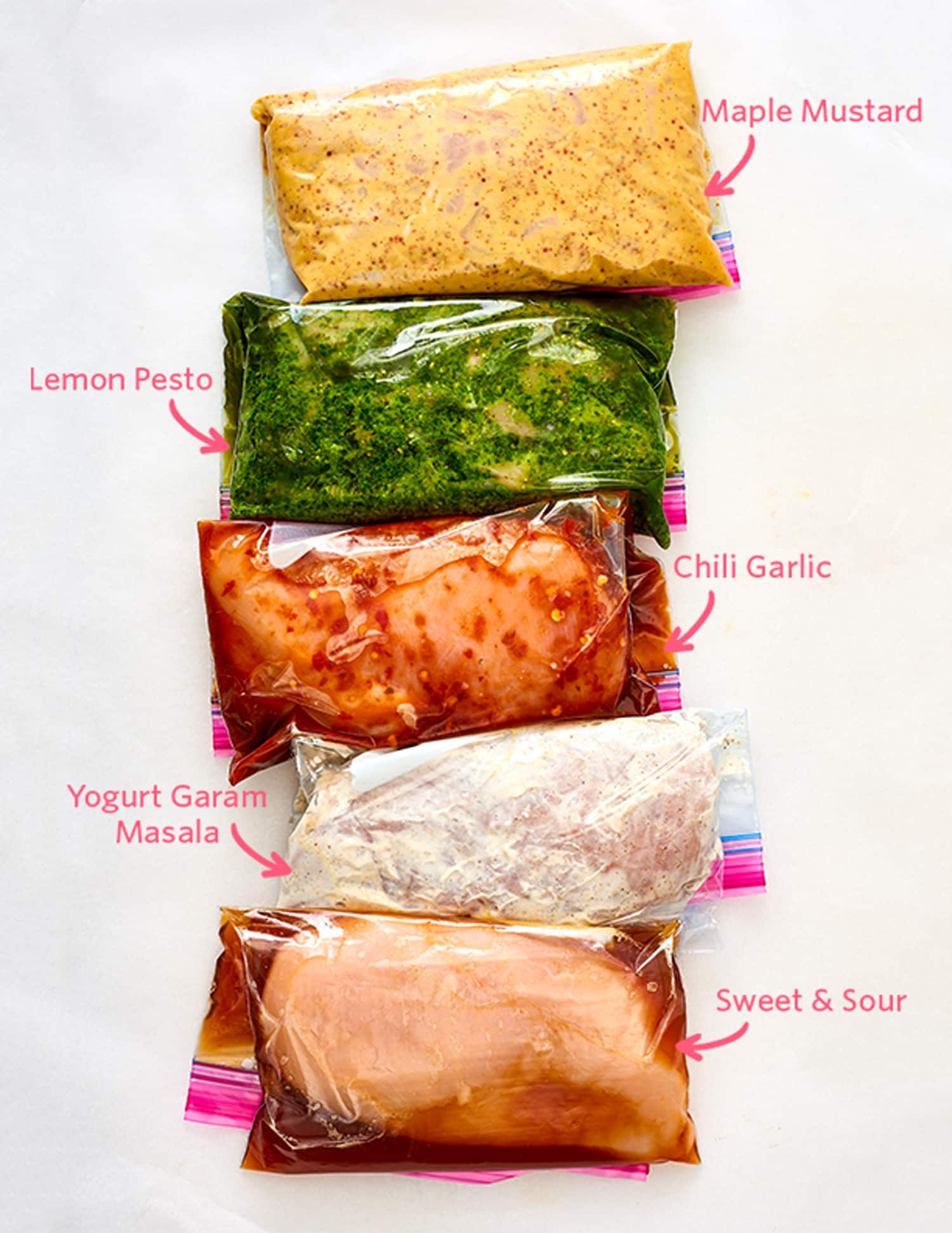 5 Freezer Marinades for Chicken or Pork