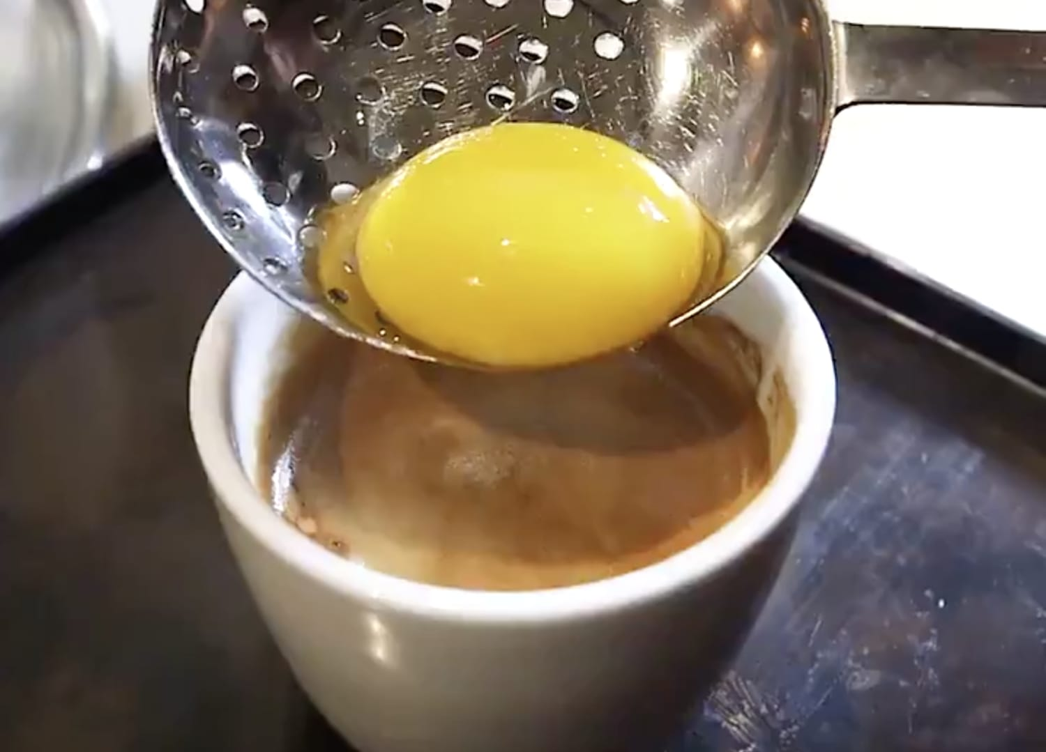Twitter Is Freaking Out Over This Egg Yolk Cappuccino