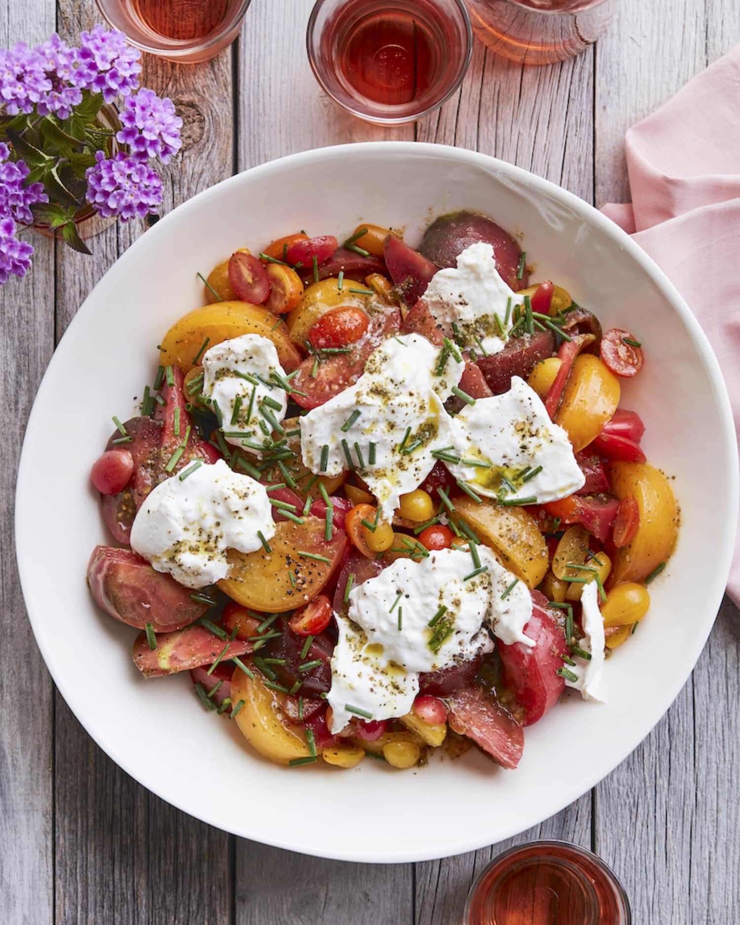 Here's a Smart Tip for Marinated Tomato and Burrata Salad