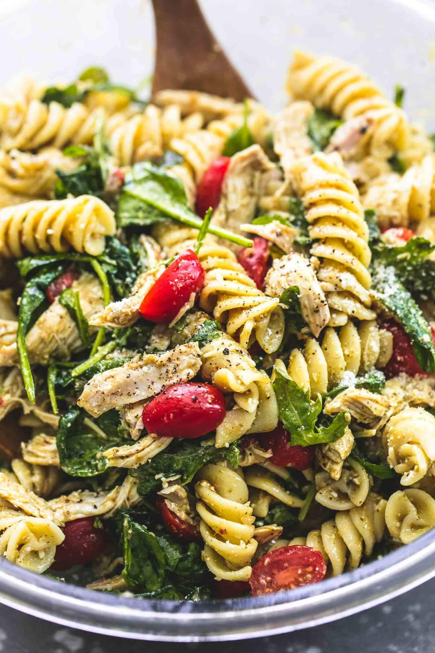 This Pesto Chicken Pasta Salad Could Not Be Easier to Make