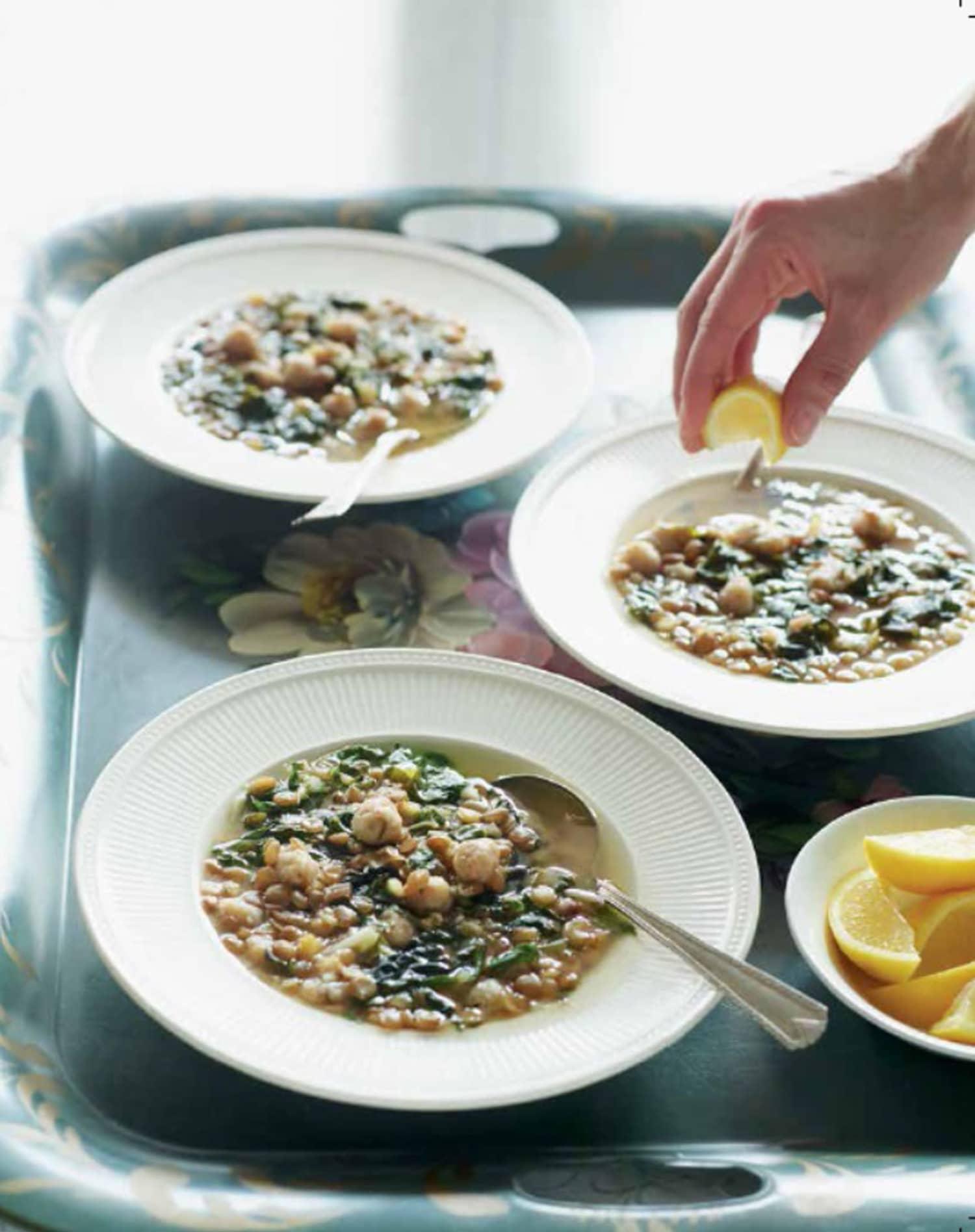 Recipe: Lebanese Lemony Lentil & Swiss Chard Soup (Kibbet Raheb)