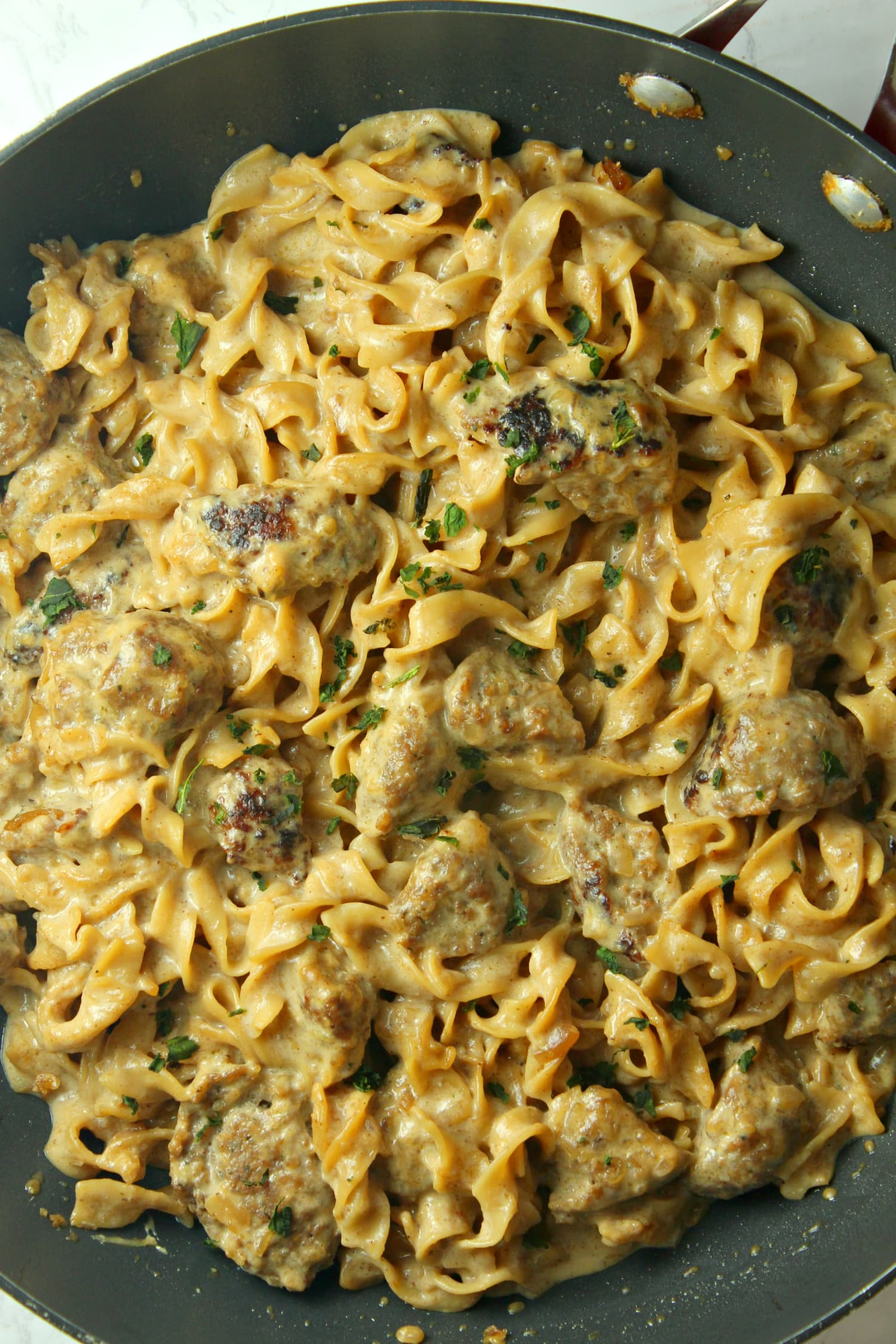 French Onion Sausage Pasta Is a One-Pot Wonder
