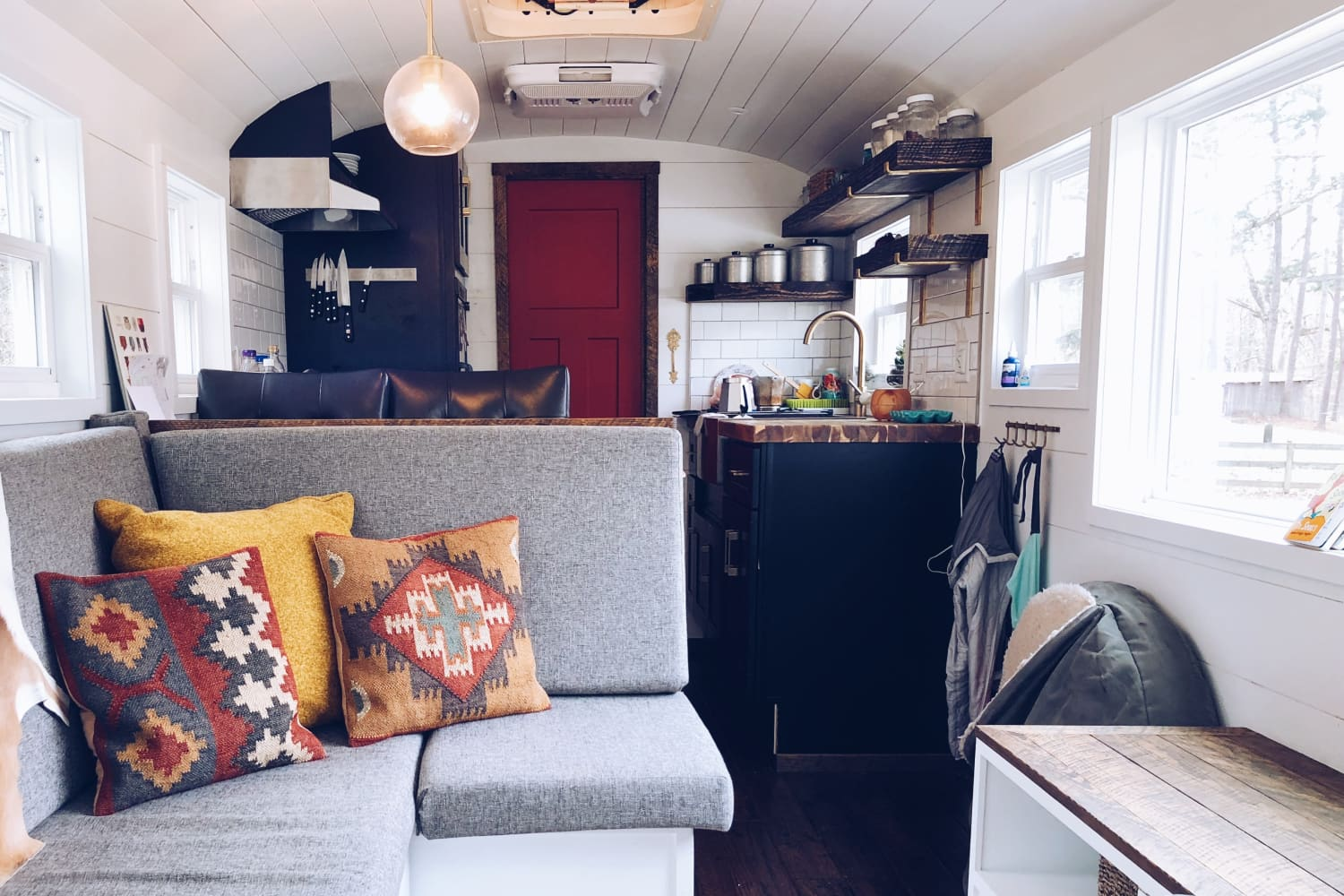 This Old School Bus Was Given a New Life as a Tiny House on Wheels