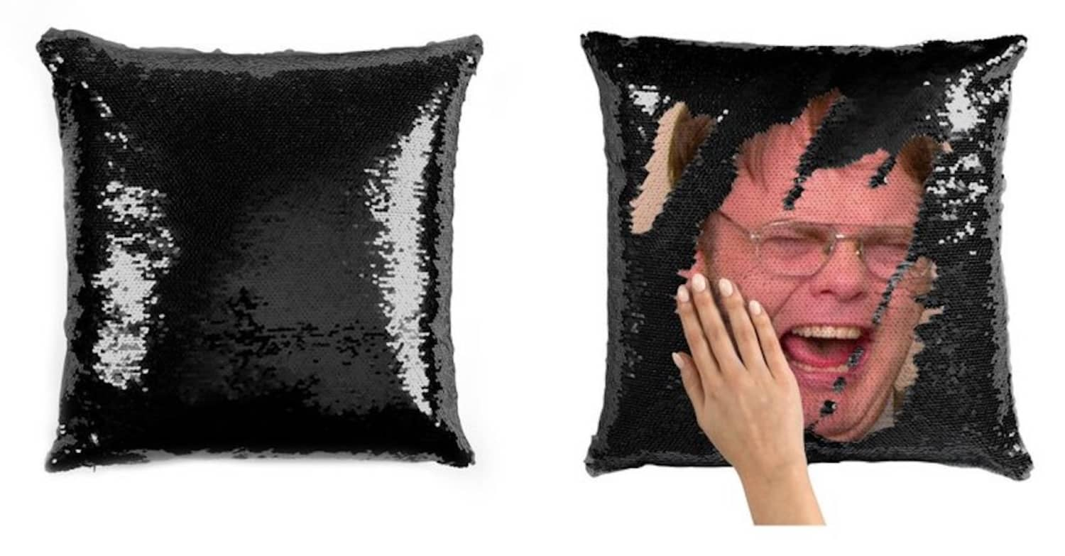 This Dwight Schrute Sequin Pillowcase Will Make You the Best Assistant to the Regional Manager