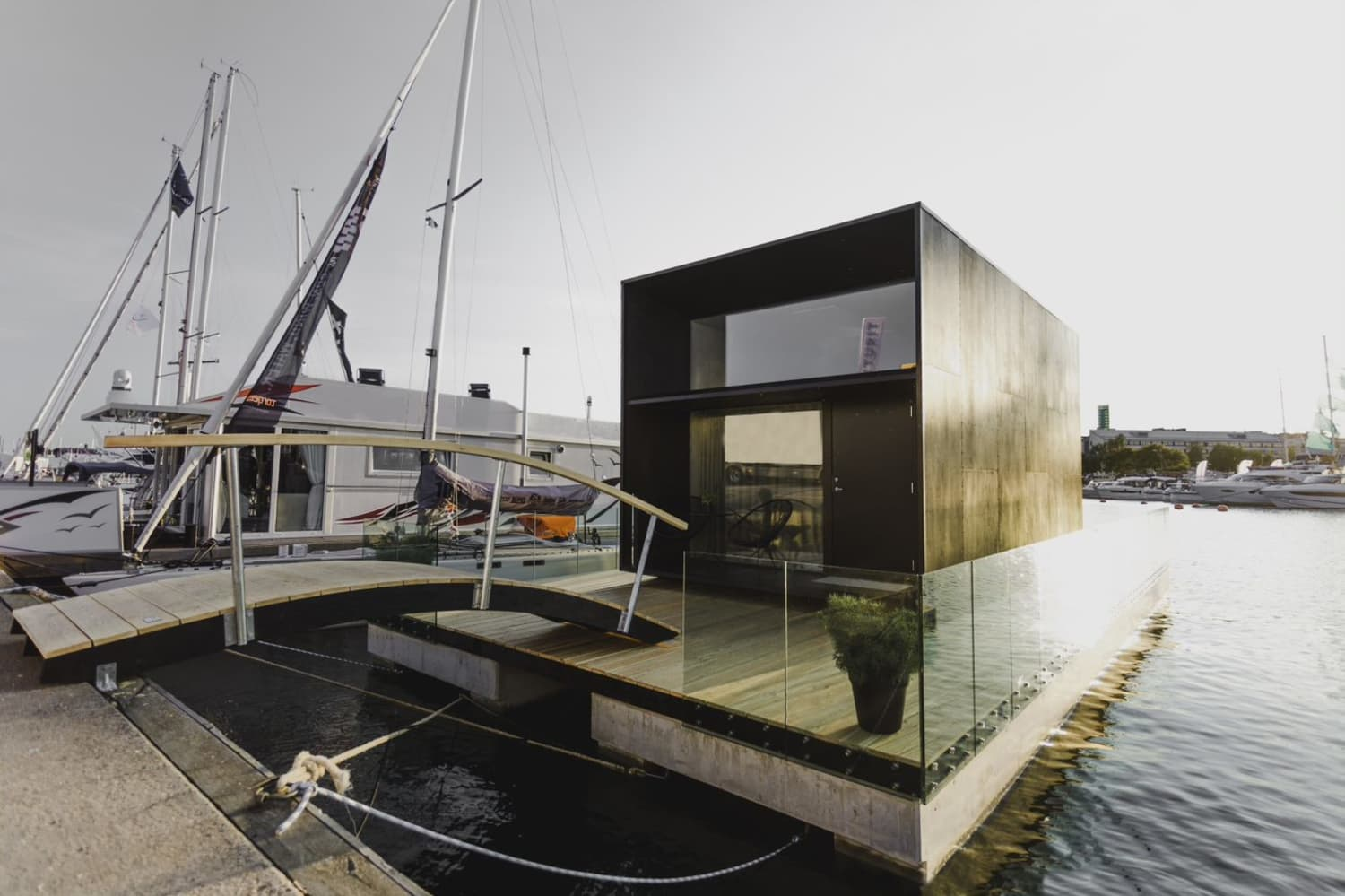This Floating Minimalist Tiny House Can Be Assembled in One Day