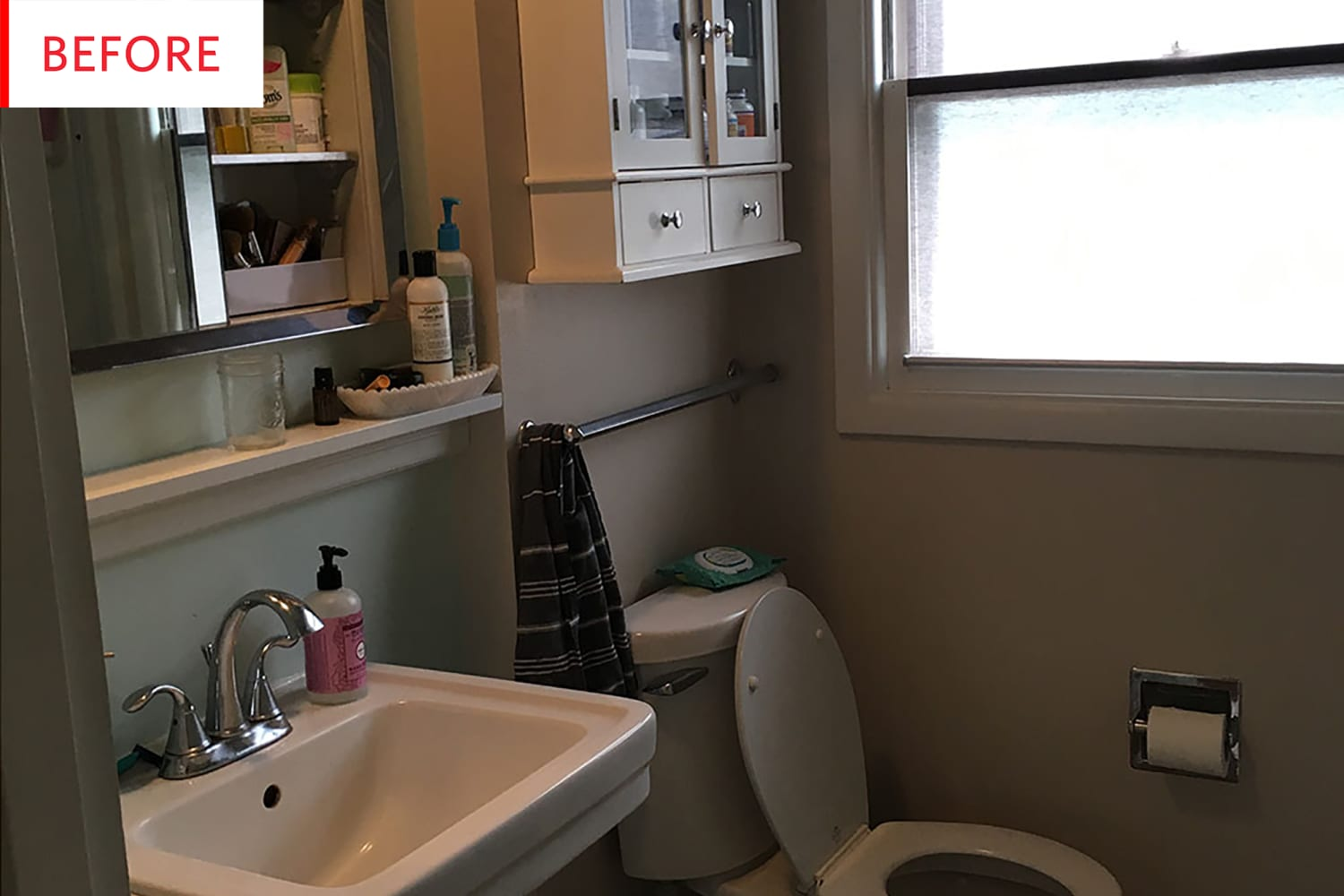 Before and After: A $3K Rustic Scandinavian Bathroom Reveal