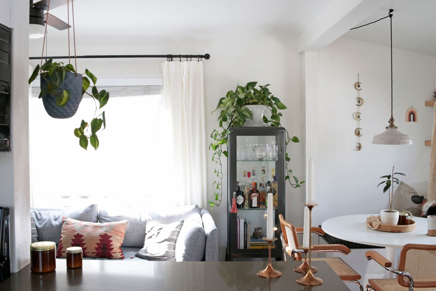 Small-Space Solutions (and Lots of Natural Light) Make This 408-Square-Foot Rental Apartment Lovely