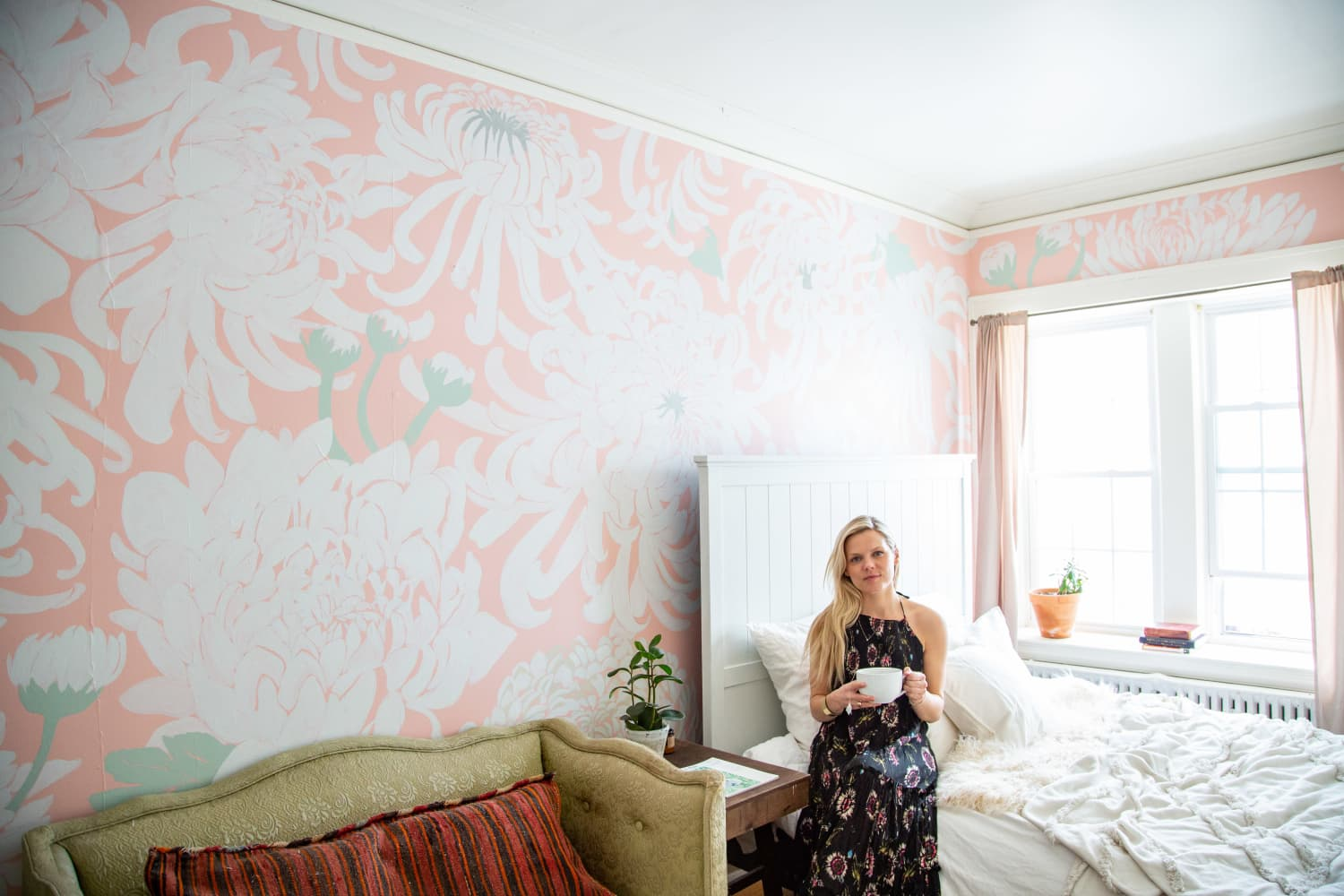 This Home Has Some of the Most Beautiful Hand-Painted Wallpaper Ever