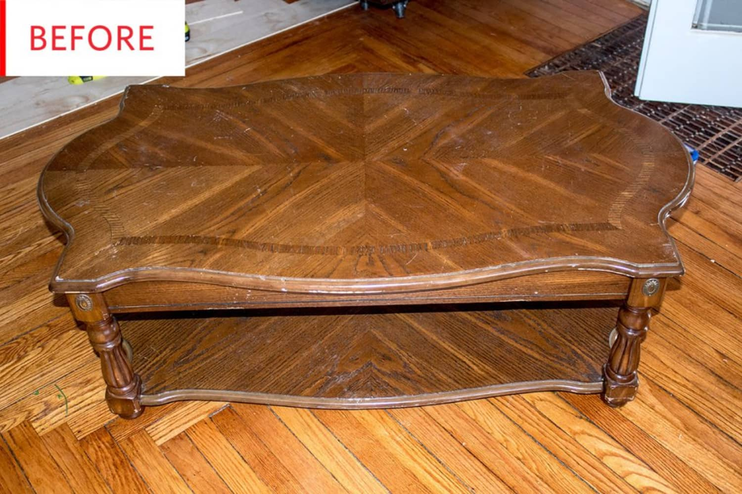 Before & After: This Thrift Store Coffee Table Gets Secret Storage