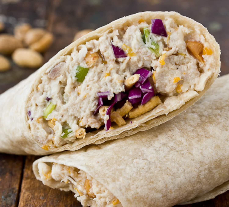 Recipe: Cashew Chicken Salad Wraps