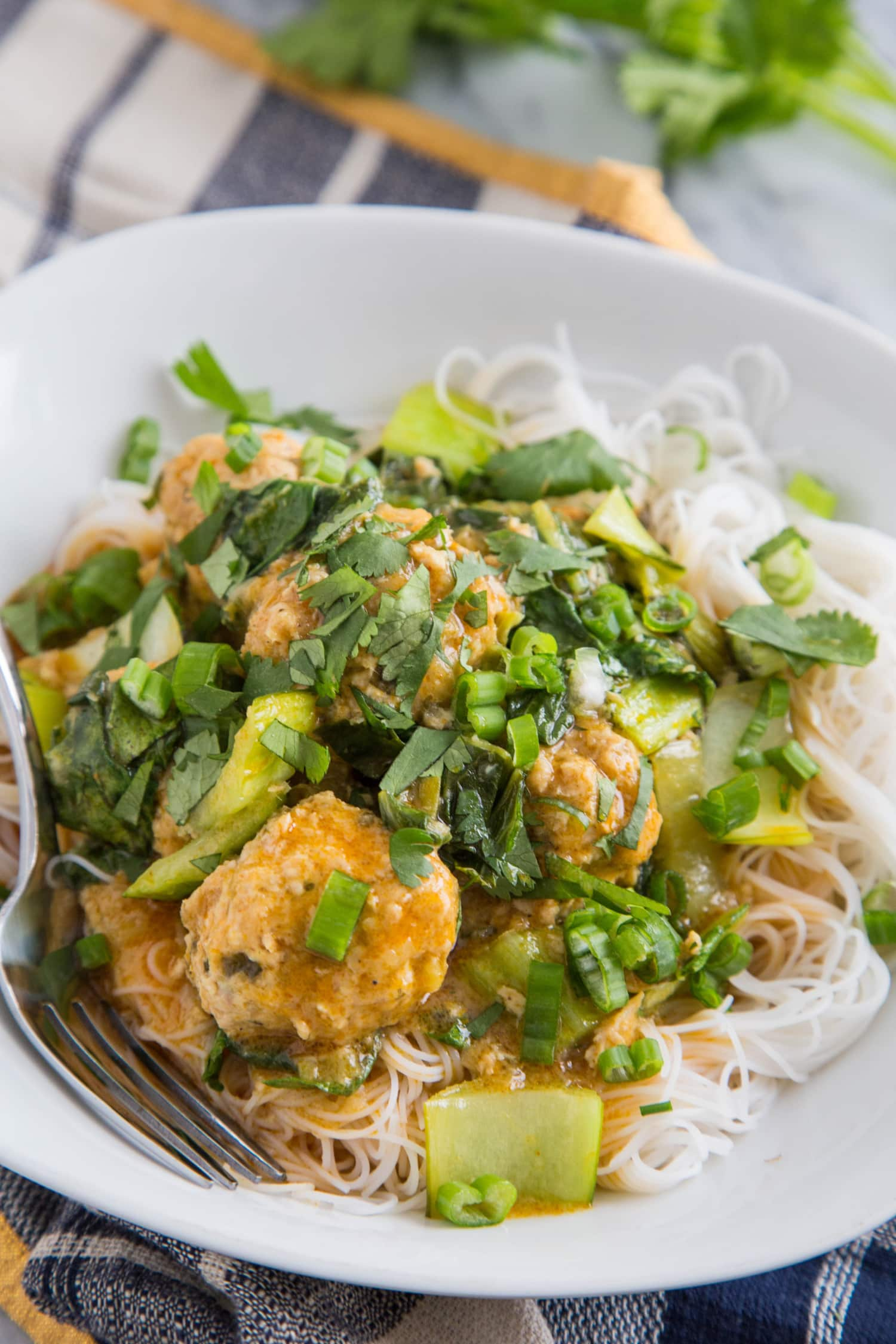 Recipe: Thai Chicken Meatballs with Coconut Curry Sauce