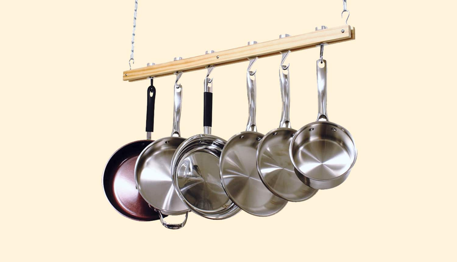 Yes, You Can Get a Cute, Space-Saving Pot Rack for Less than $50