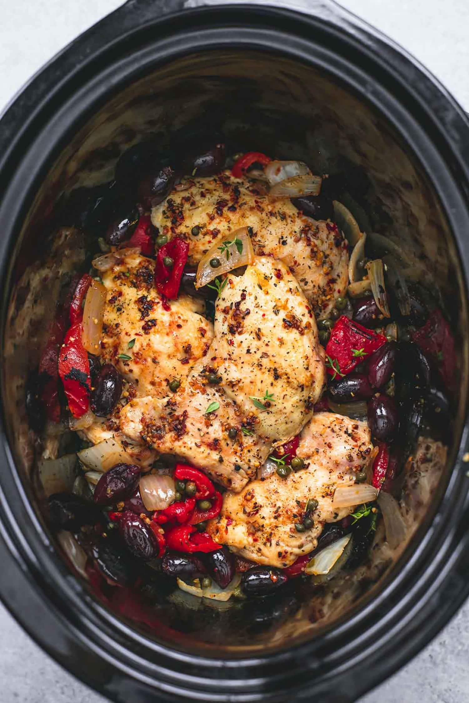 Slow Cooker Mediterranean Chicken Is a Dream Dinner