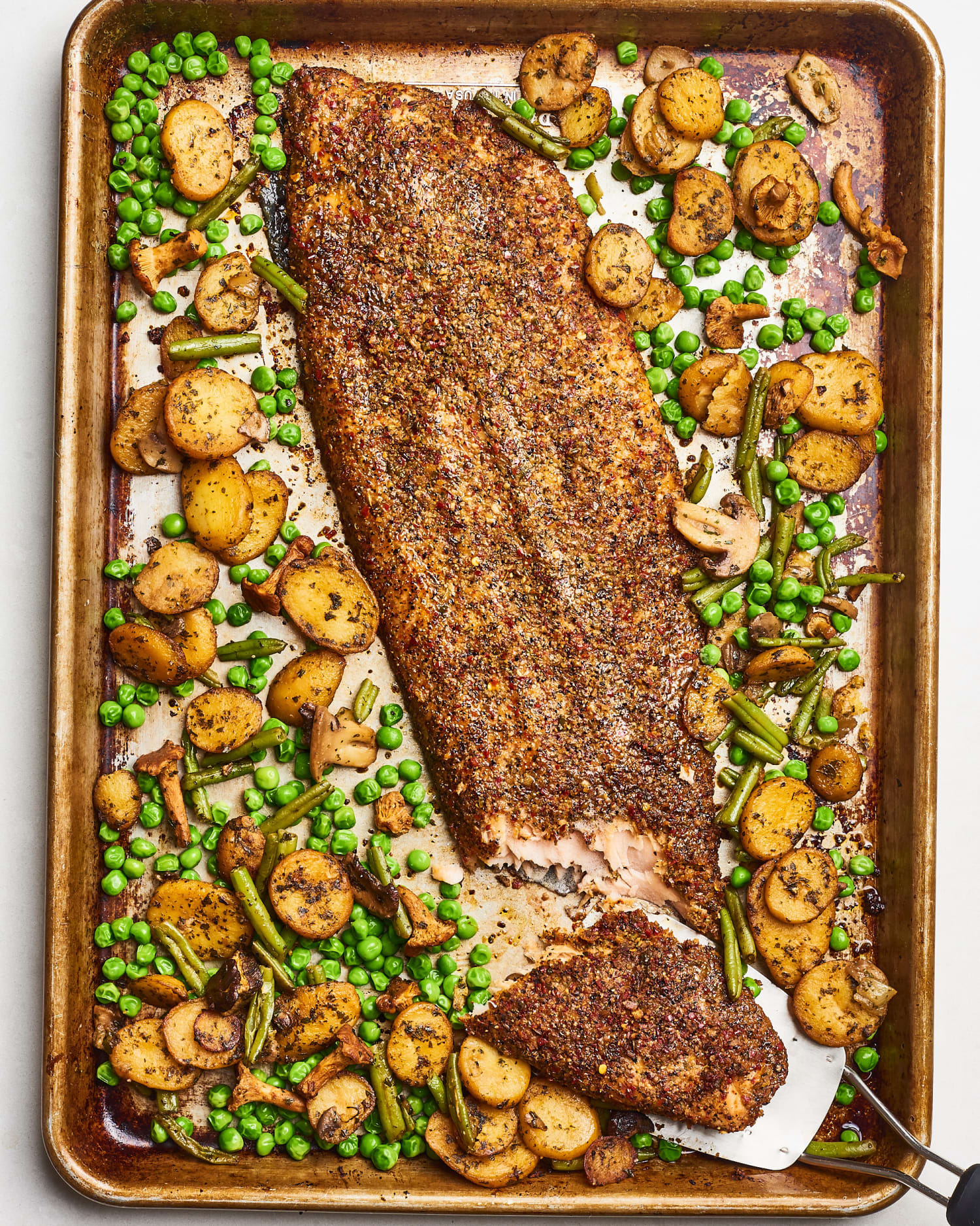 Recipe: Trader Joe's Sheet Pan Crispy Salmon & Veggies