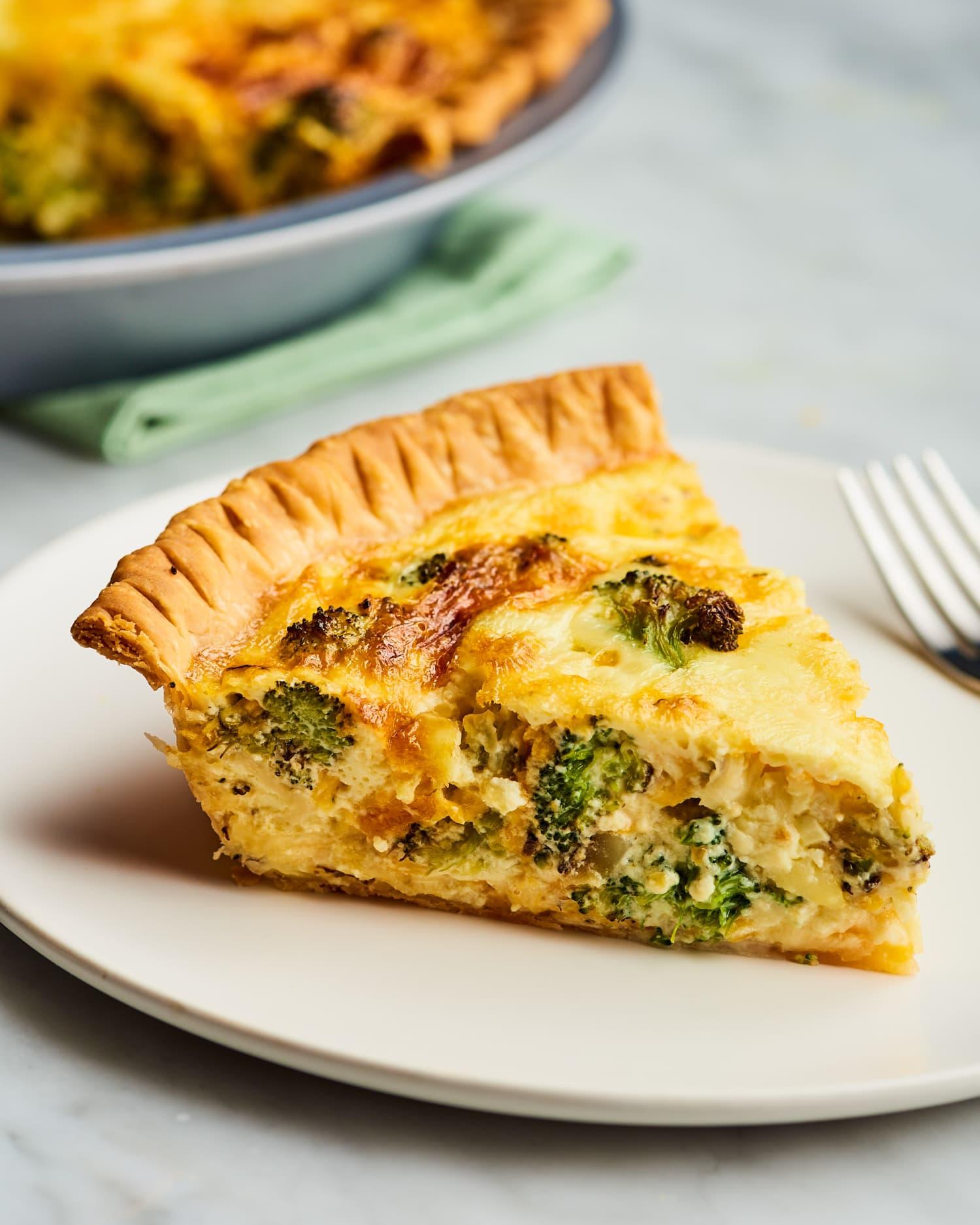 Recipe: Easy Broccoli Cheddar Quiche