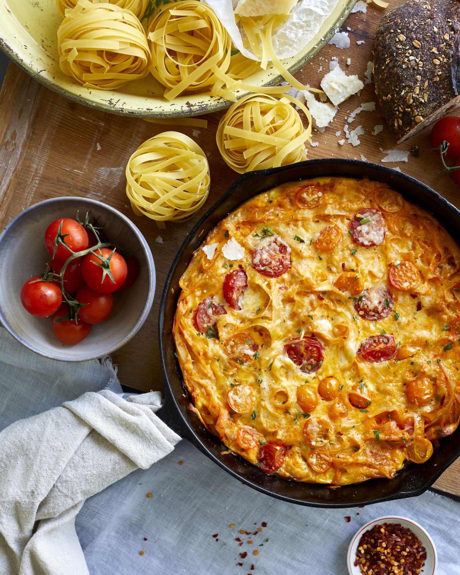 Recipe: Leftover Pasta Frittata