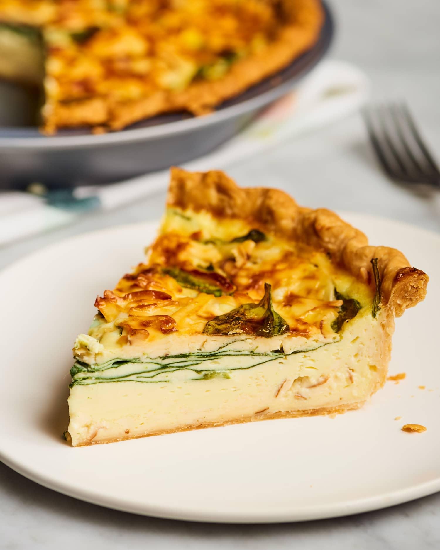 Recipe: Cheesy Spinach Quiche