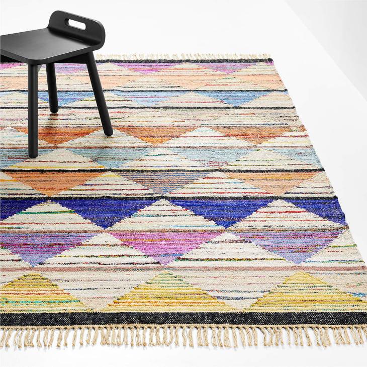 产品图片:Svena水洗碎布地毯,4' x 6'
