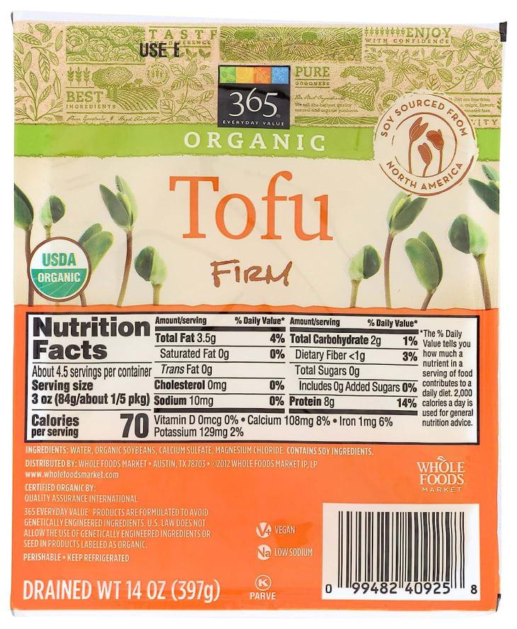 Product Image: 365 Everyday Value, Organic Tofu, Firm, 14 oz