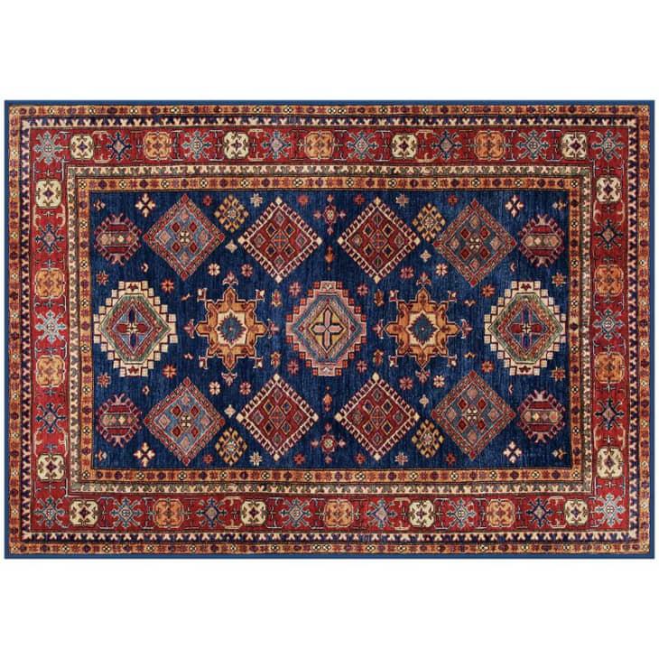"""产品图片:Nevermove蓝色和红色区域地毯,2'x 2'8"""""""