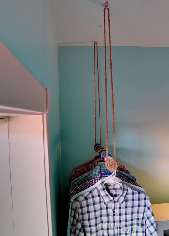 Out Of The Closet How To Make A Rope Wrapped Hanging