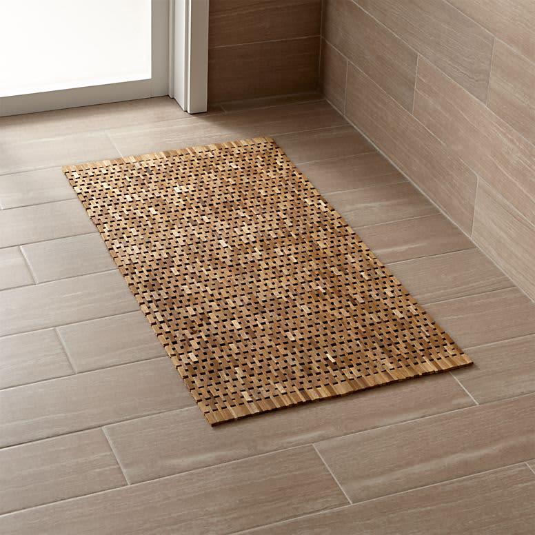 Create A Spa Bathroom 11 Wooden Bath Mats Apartment Therapy