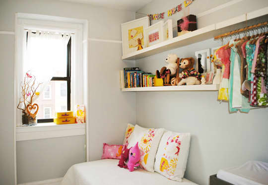 Hang Ups: Storage Solutions for Kids Rooms Without a Closet ...