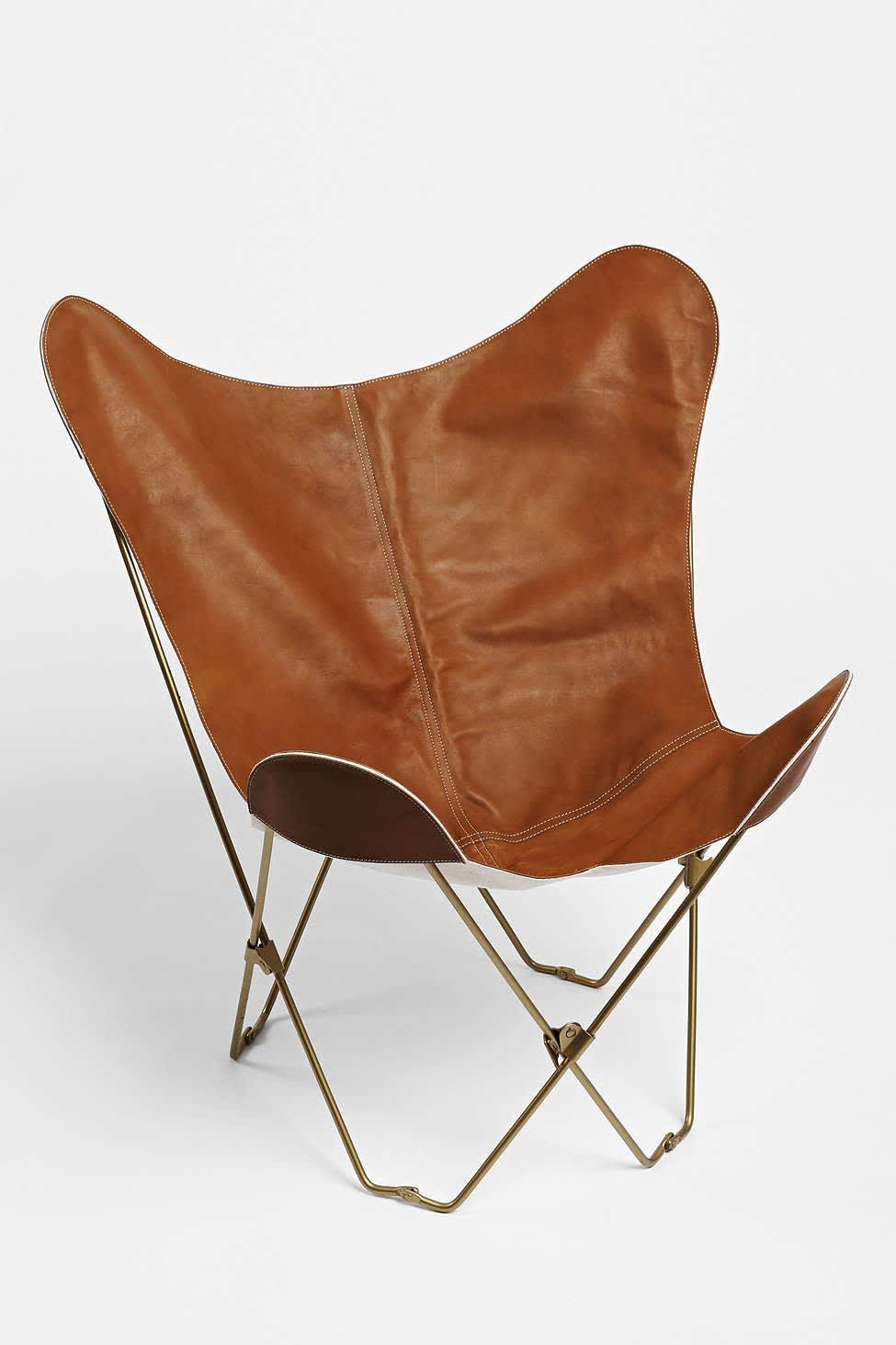 High Low Leather Sling Chairs Apartment Therapy