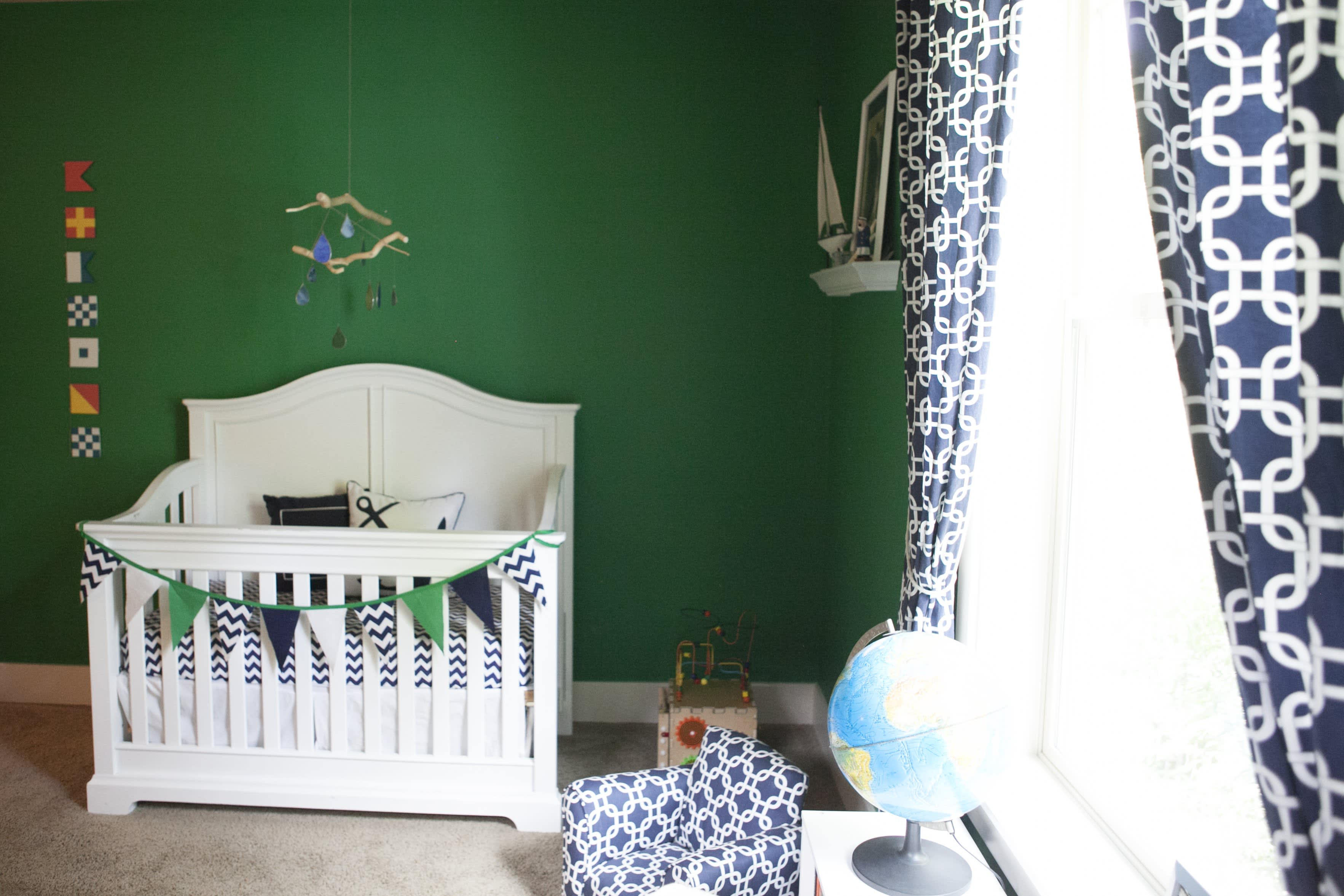 Branson S Emerald Green Nautical Nursery Apartment Therapy