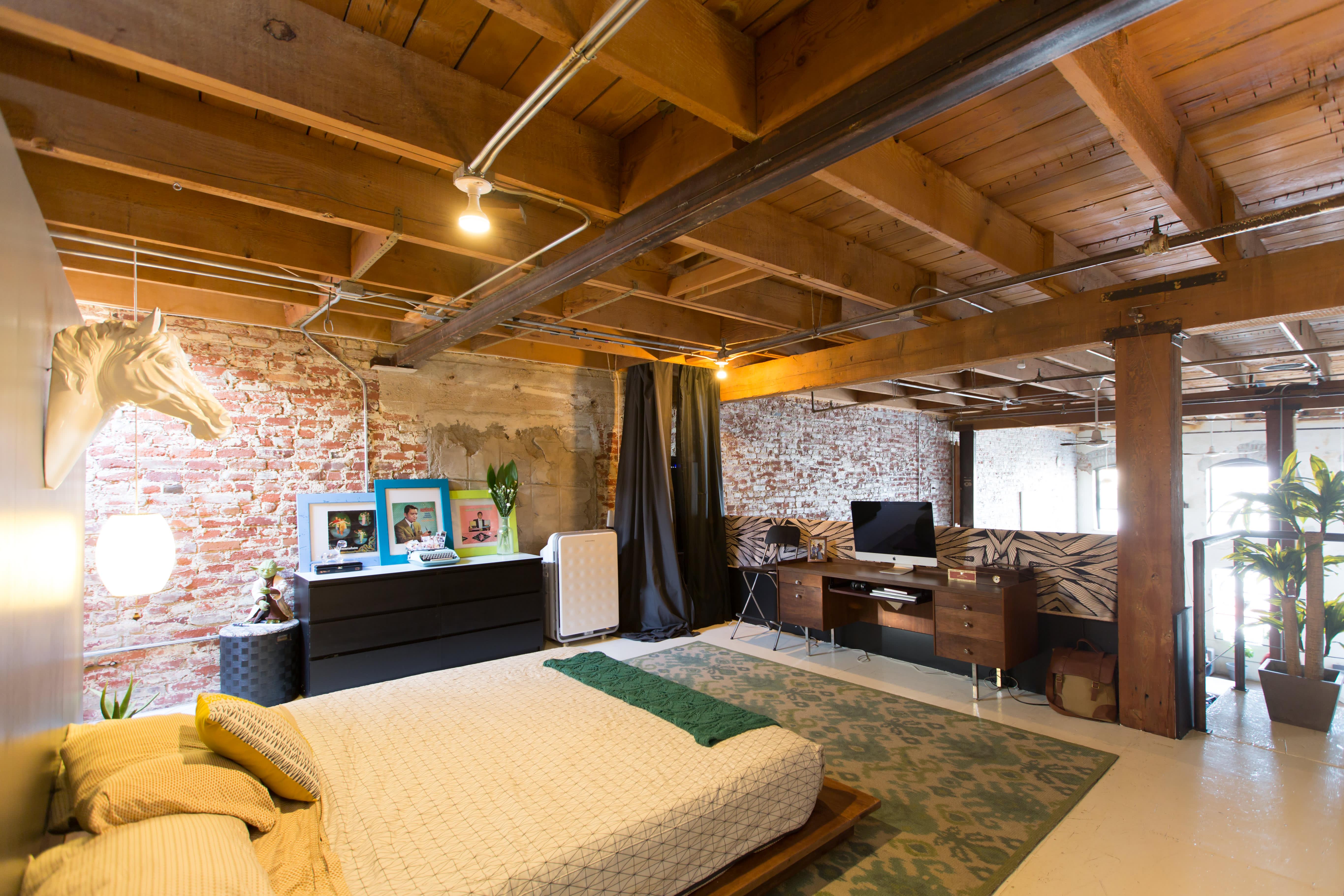 House Tour A Bold Brick Loft In Downtown La Apartment