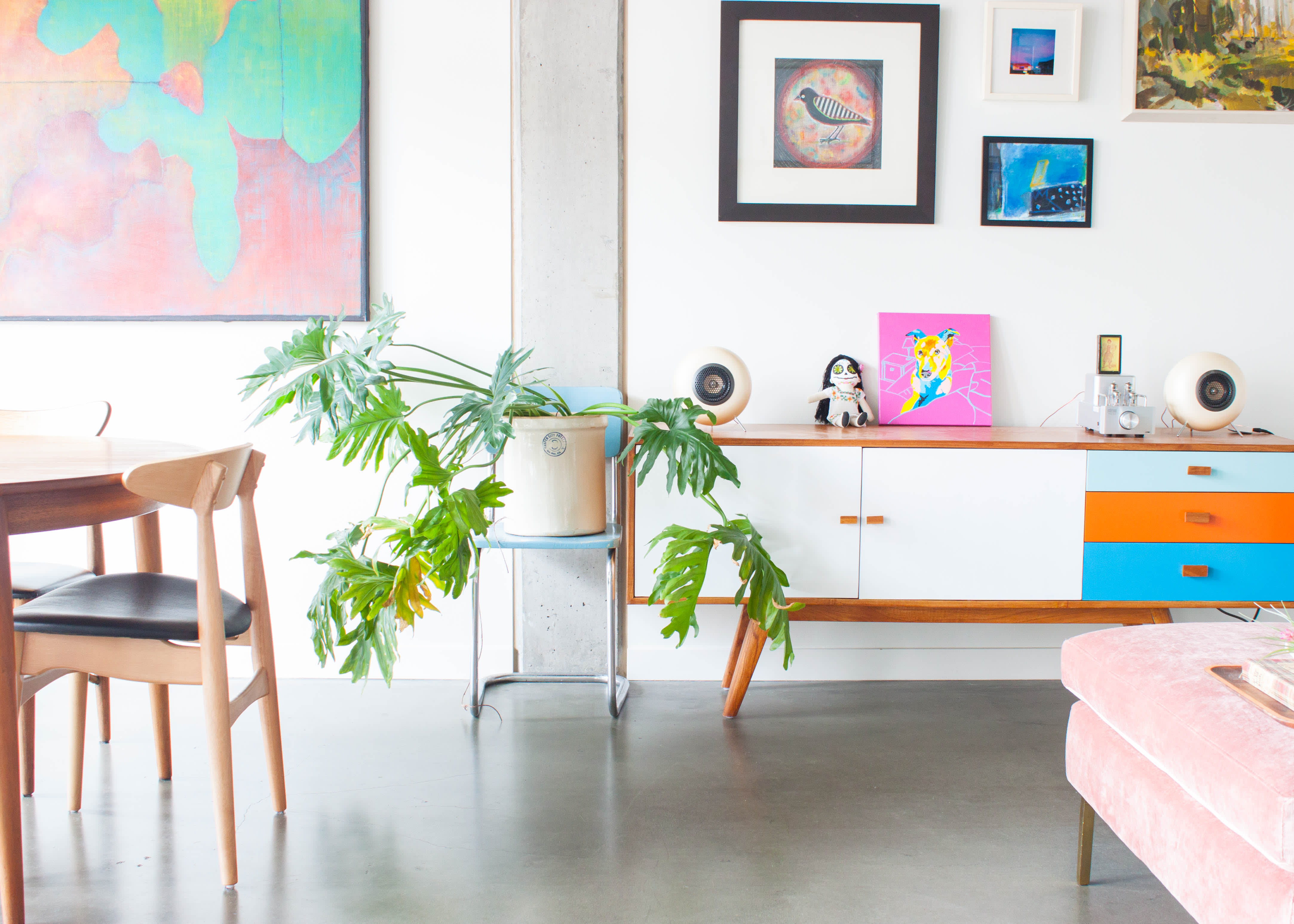 House Tour: A Minimal, Colorful Seattle Studio Apartment   Apartment