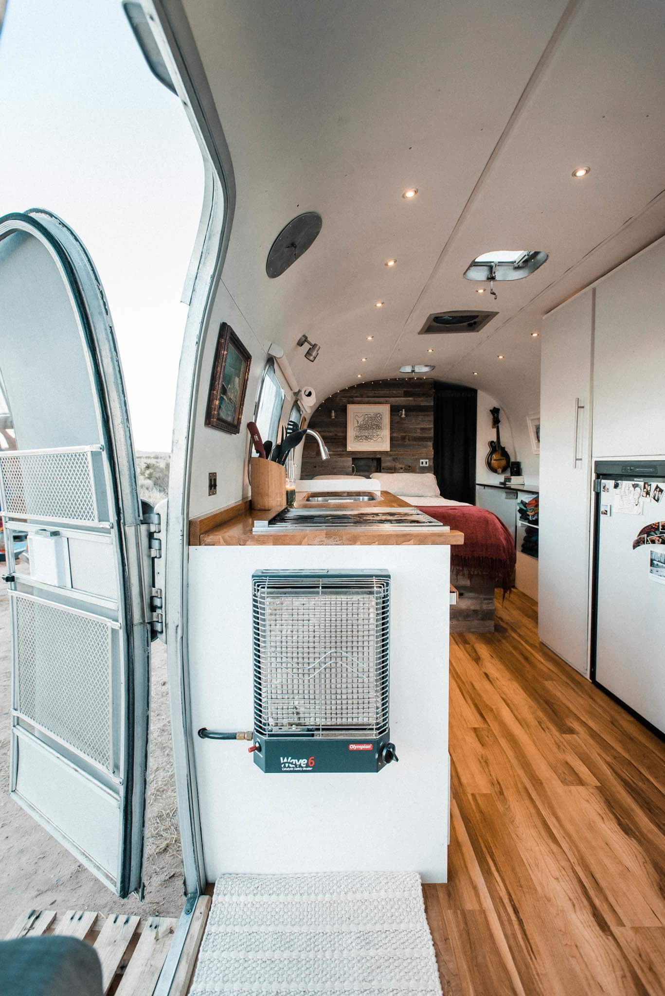 Tiny Home Tour Diy Remodel Of A 72 Airstream Trailer