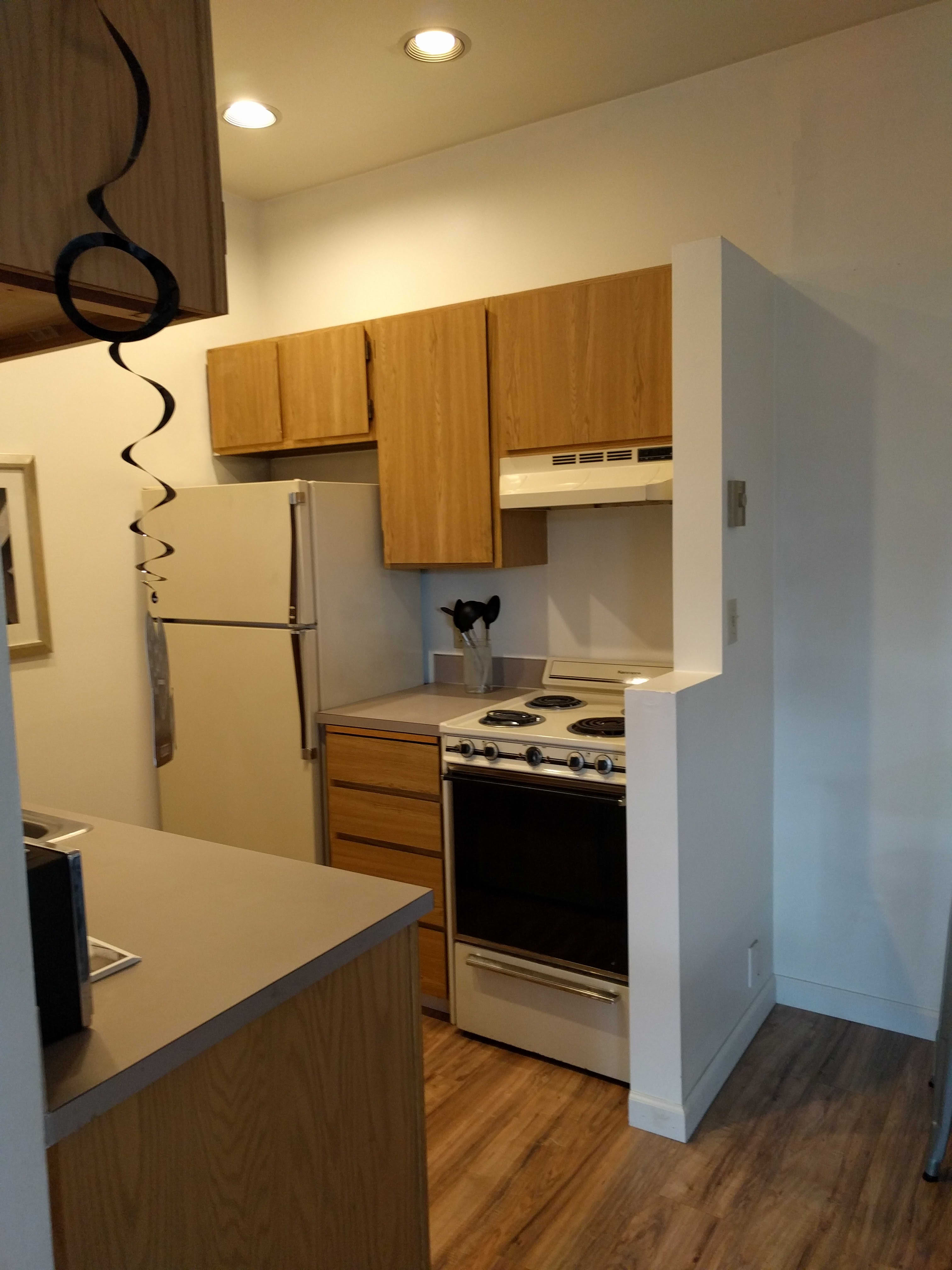 Before After Gut Remodel Of A Studio Apartment Kitchen