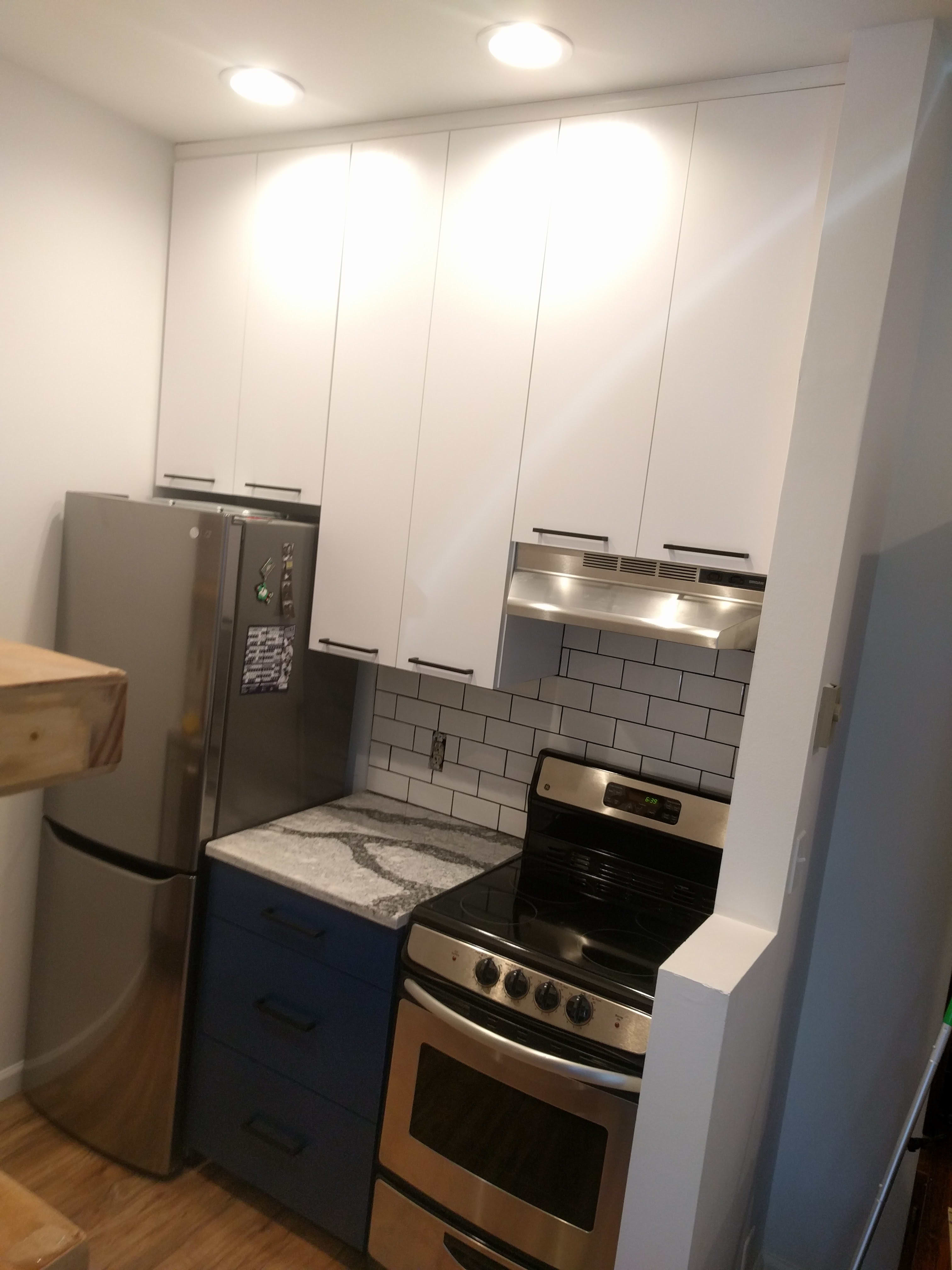 Before & After: Gut Remodel Of A Studio Apartment Kitchen