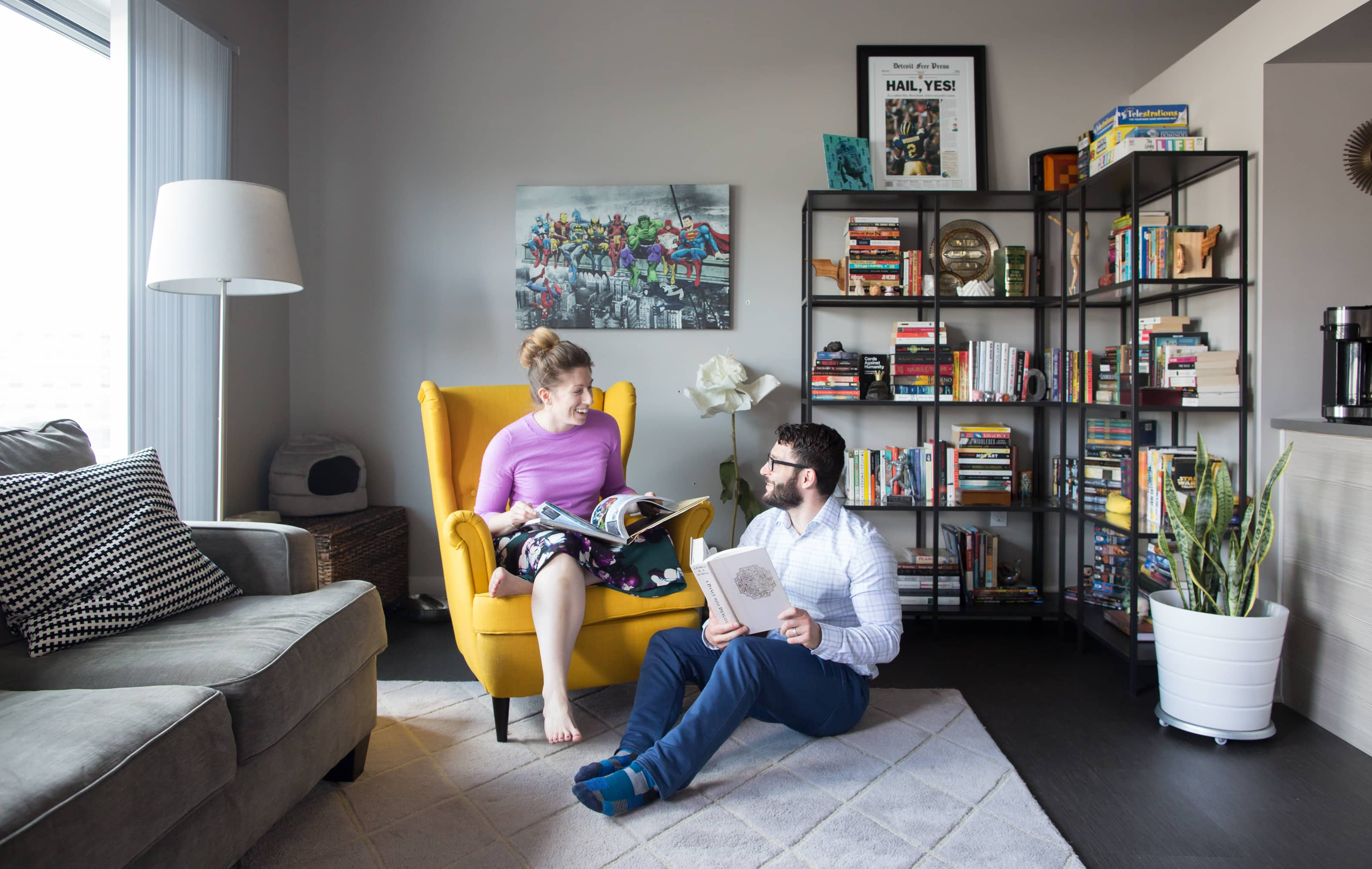 House Tour: A Small, Minimal Shared Michigan Studio | Apartment Therapy