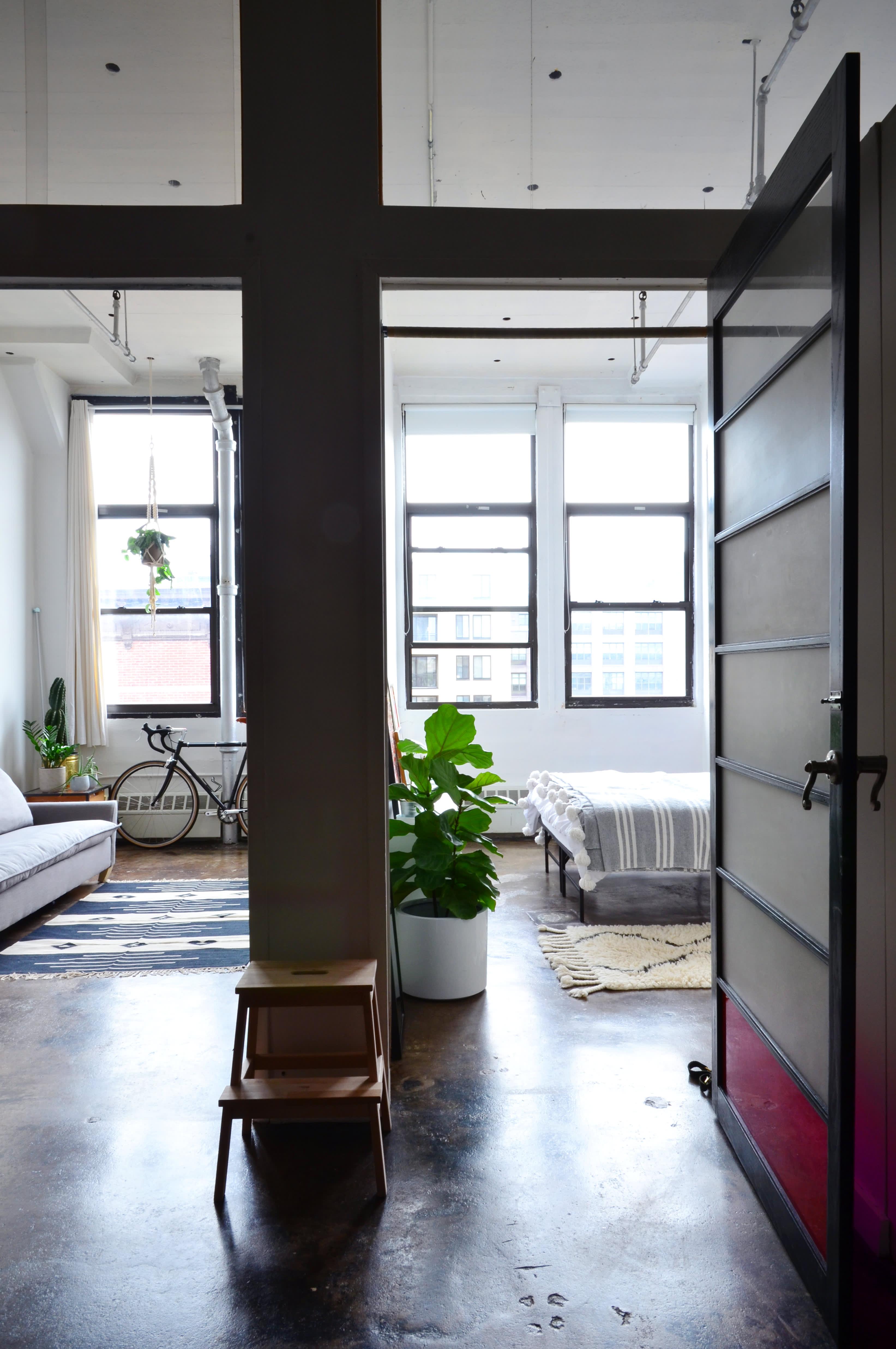 House Tour: An Artist's Industrial Modern NYC Loft