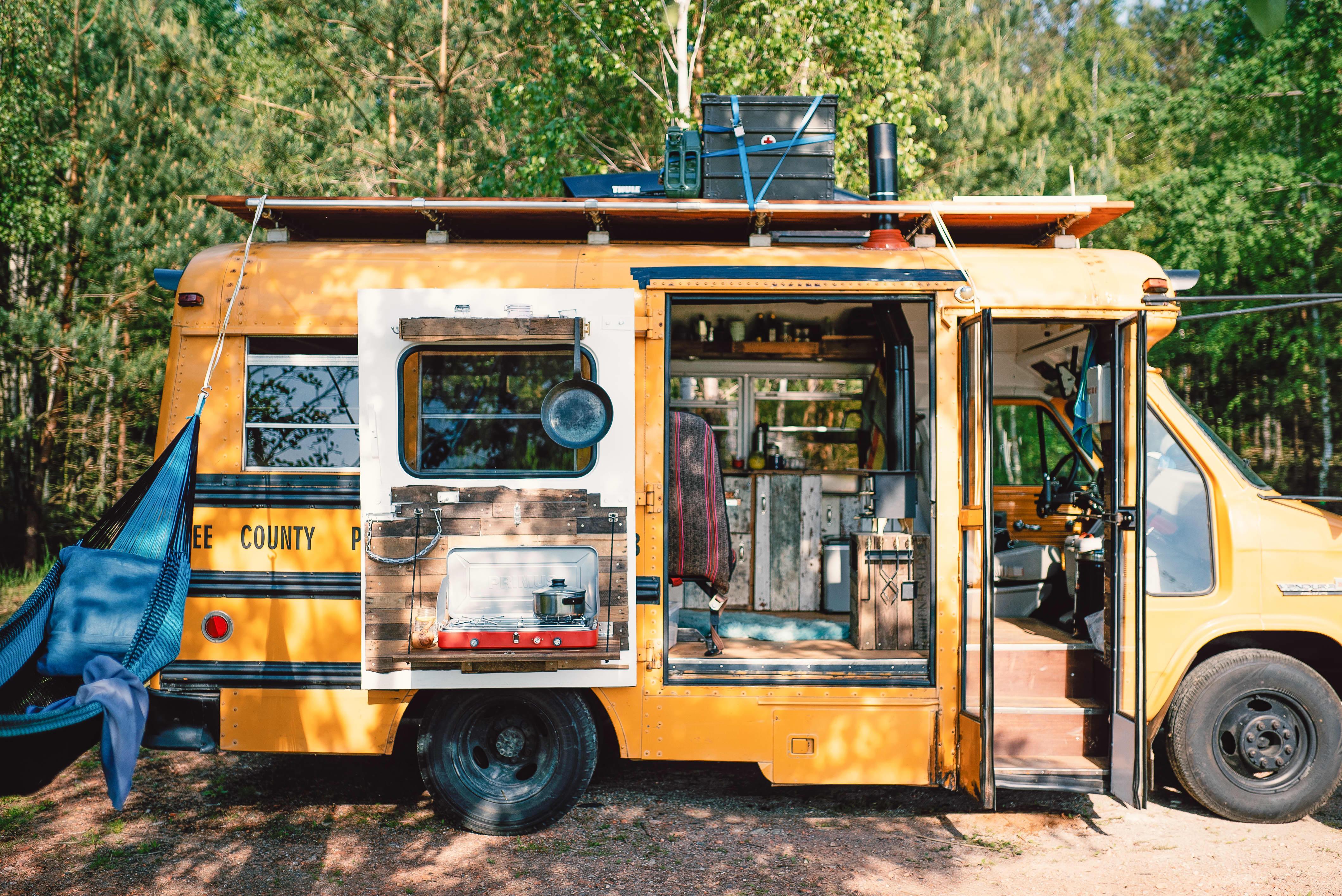 Berlin Tiny House DIY Converted School Bus Photos