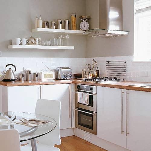 Kitchen Gallery: Bright White + Warm Wood