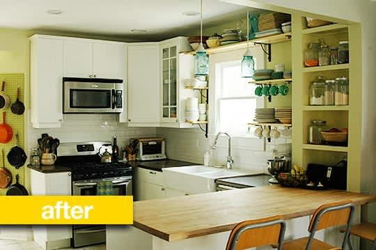 before & after: katy's $700 window-centric kitchen remodel