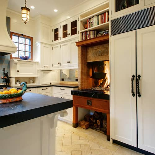 Cozy Kitchen: The Ultimate Cozy: Kitchen Fireplaces
