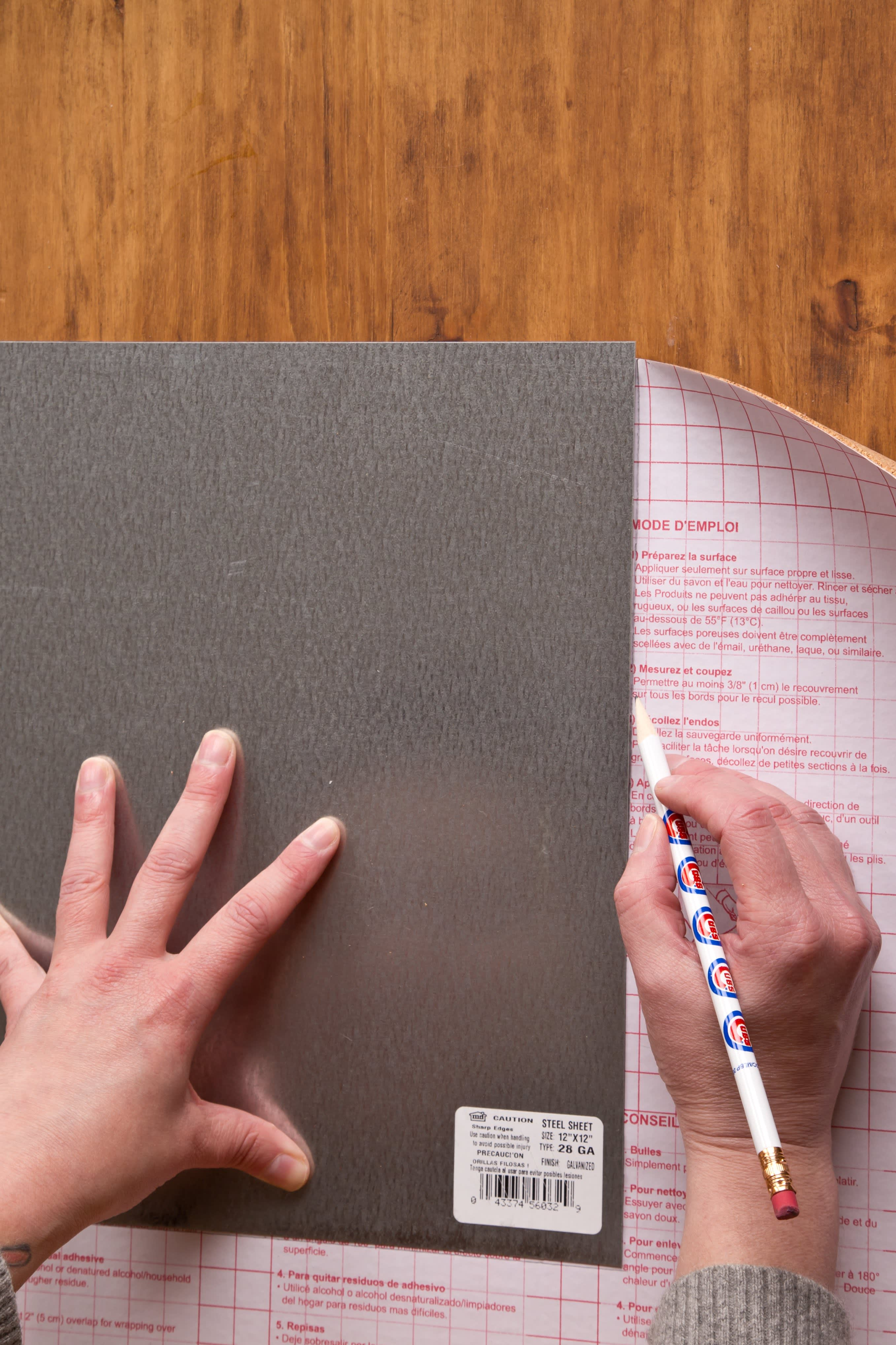 How To Make a Magnetic Galvanized Steel Dry Erase Board | Kitchn