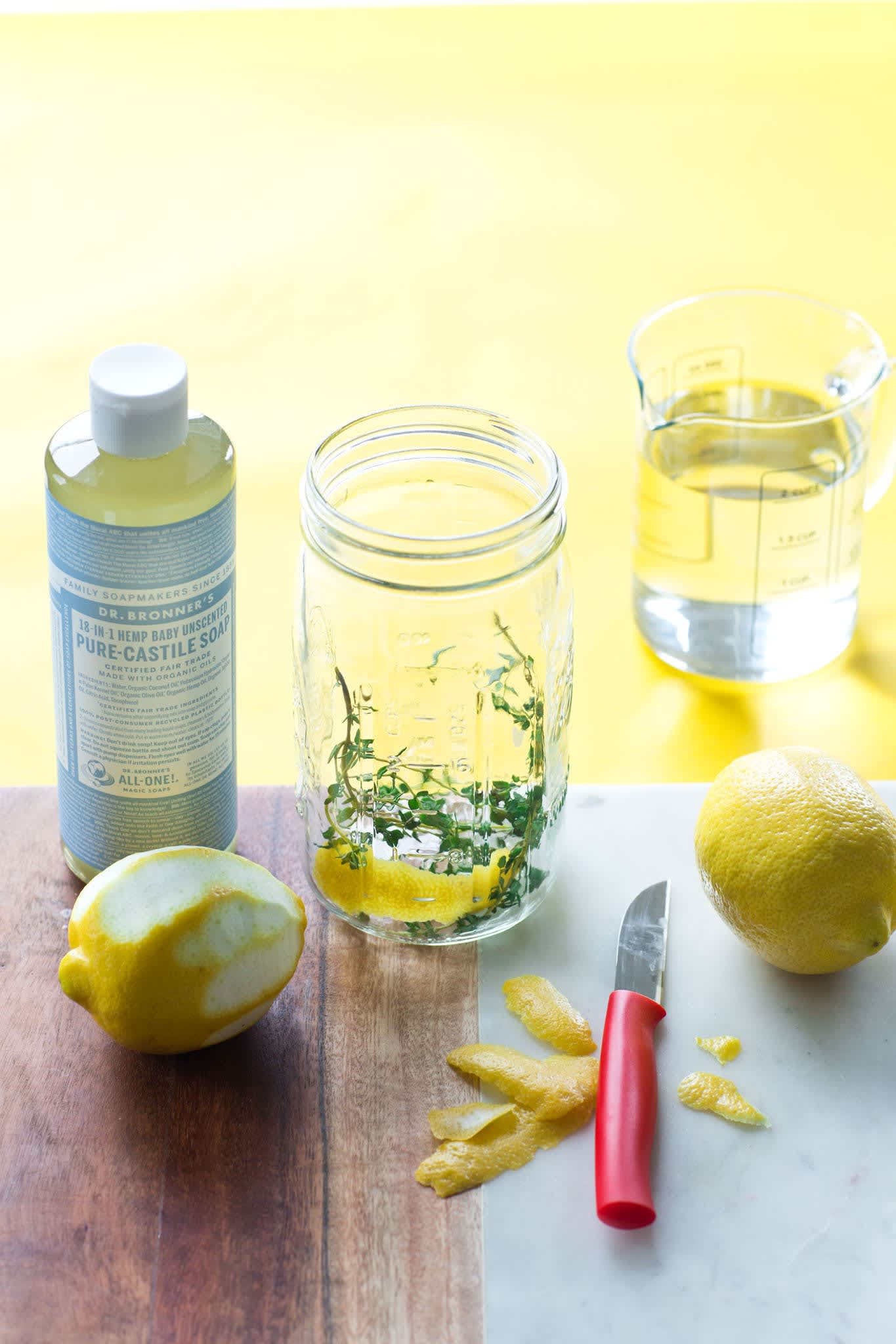 How To Make Infused Vinegar Cleaning Spray