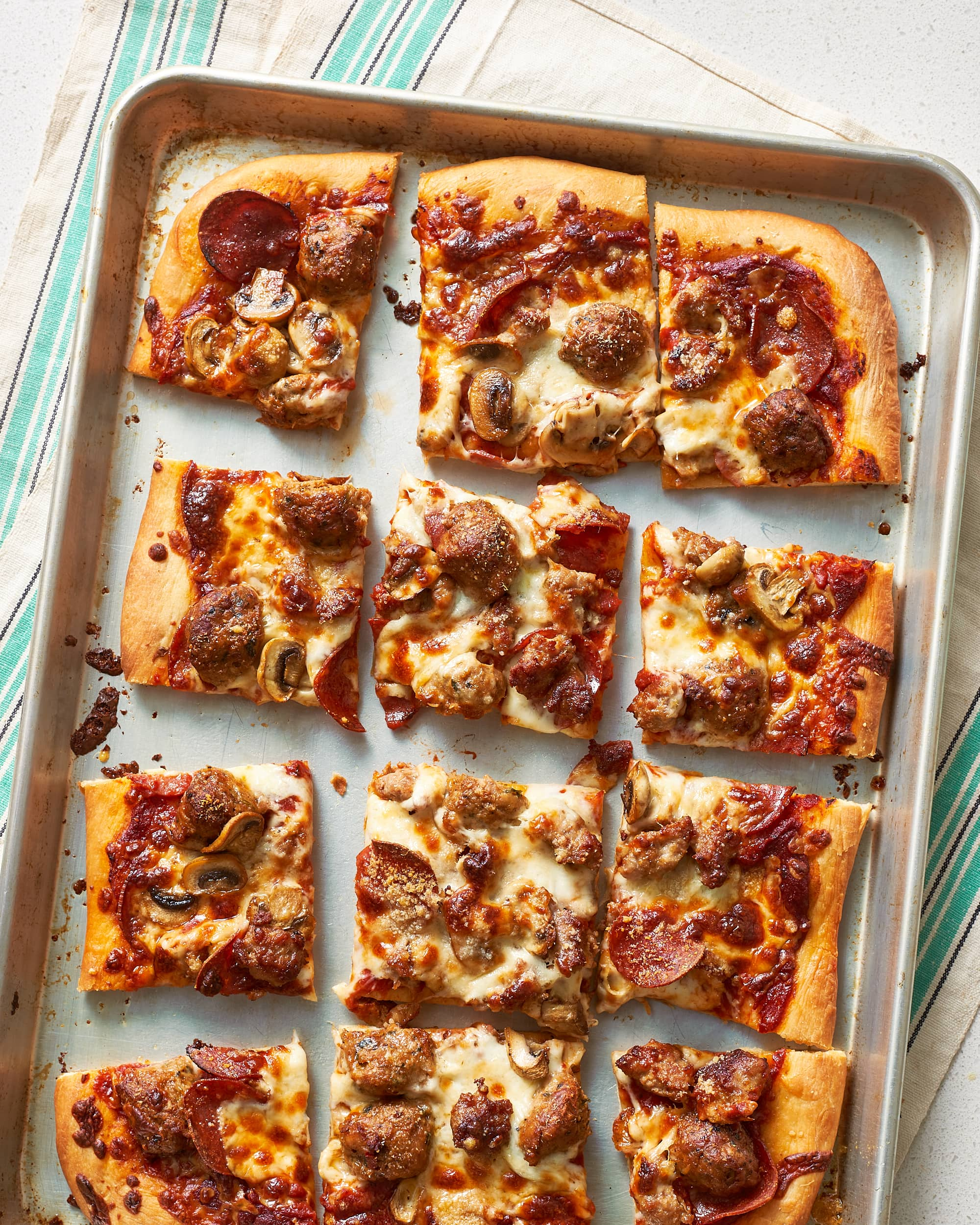 Pan Crust Round Table.How To Make Classic Sheet Pan Pizza