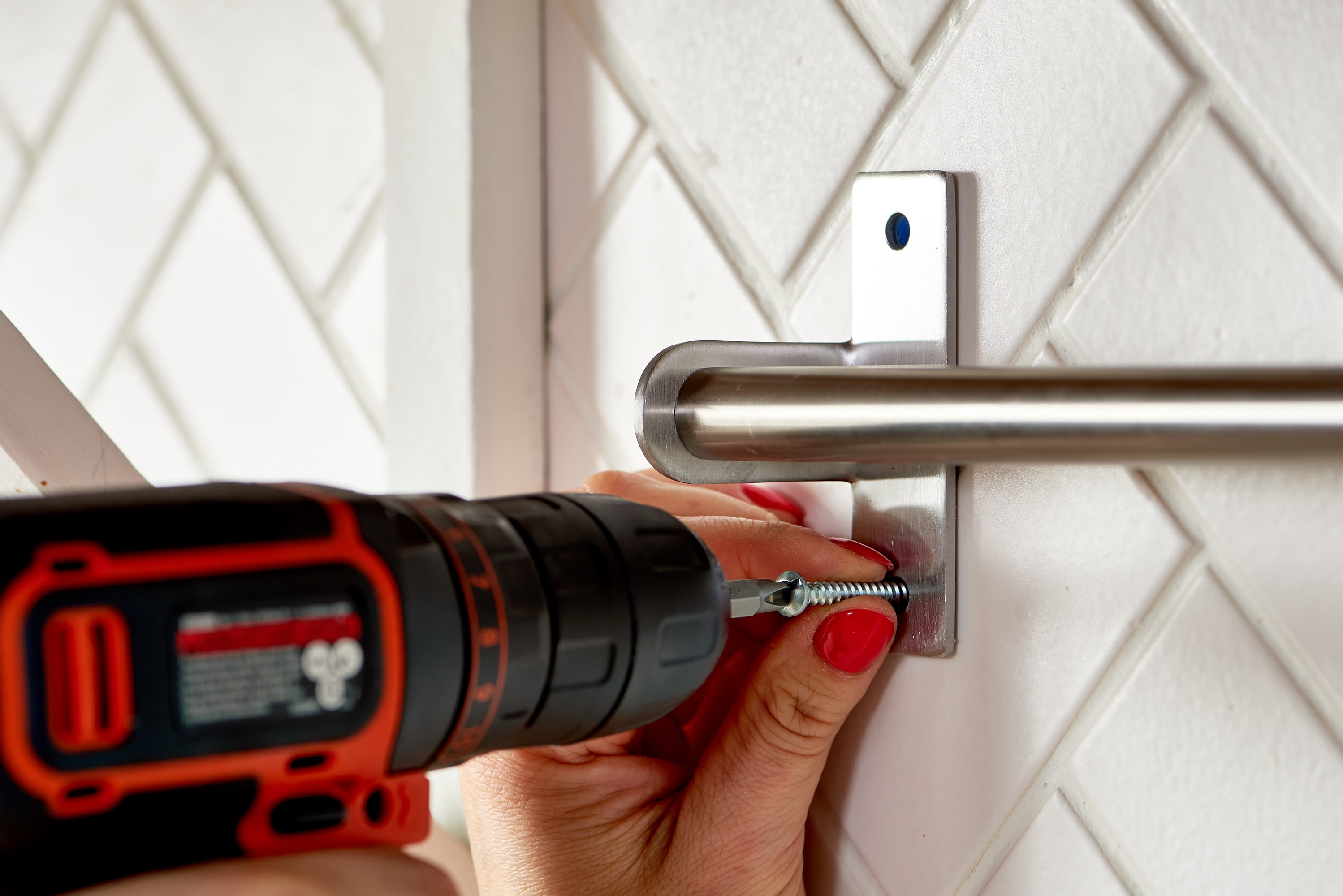 Fantastic Drill Through Tile Backsplash Ikea Grundtal Rail Kitchn Home Remodeling Inspirations Propsscottssportslandcom