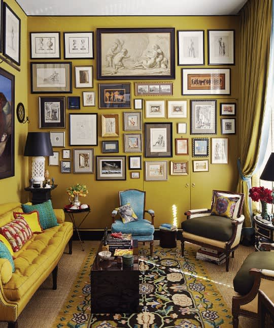 glamorous mustard yellow color living room | Paint Color Portfolio: Mustard Living Rooms | Apartment ...