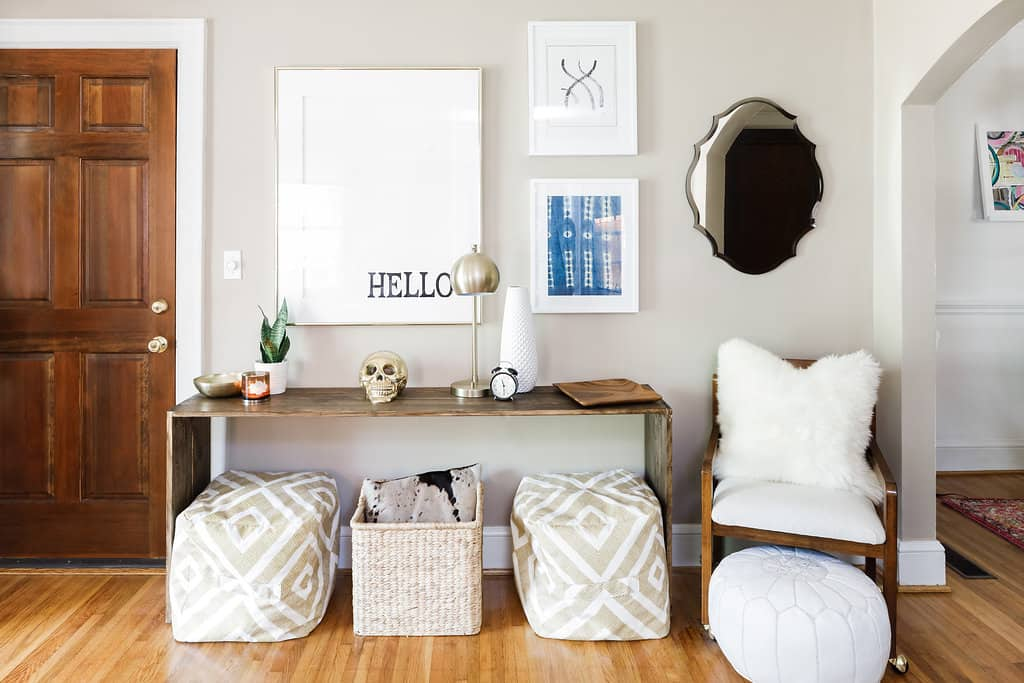 Giving a First Solo Apartment a Fun Boho Glam Look ...