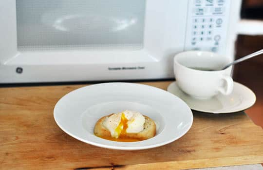 How To Poach An Egg In The Microwave Kitchn