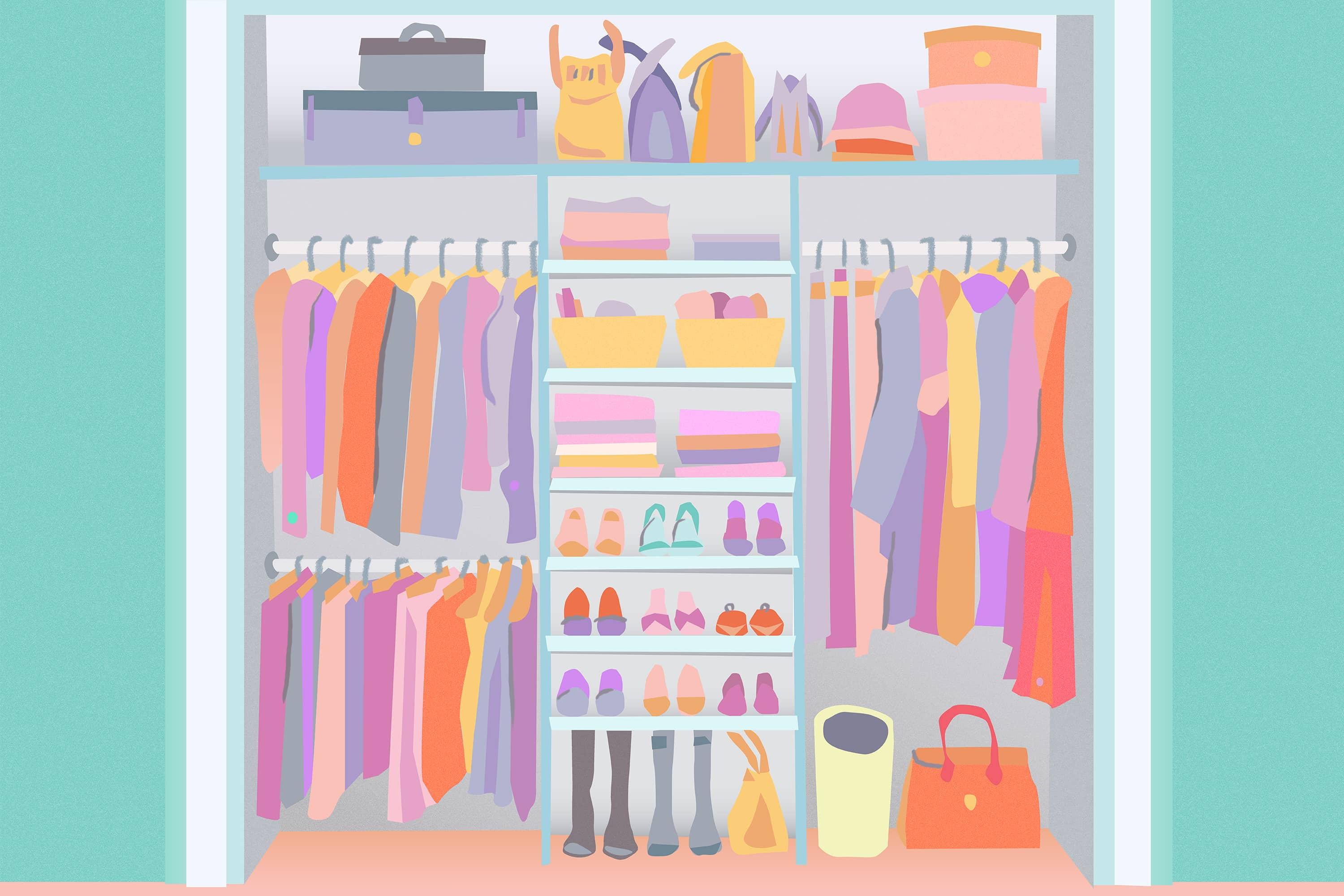 20 Smart Ways To Organize Your Bedroom Closet Apartment Therapy